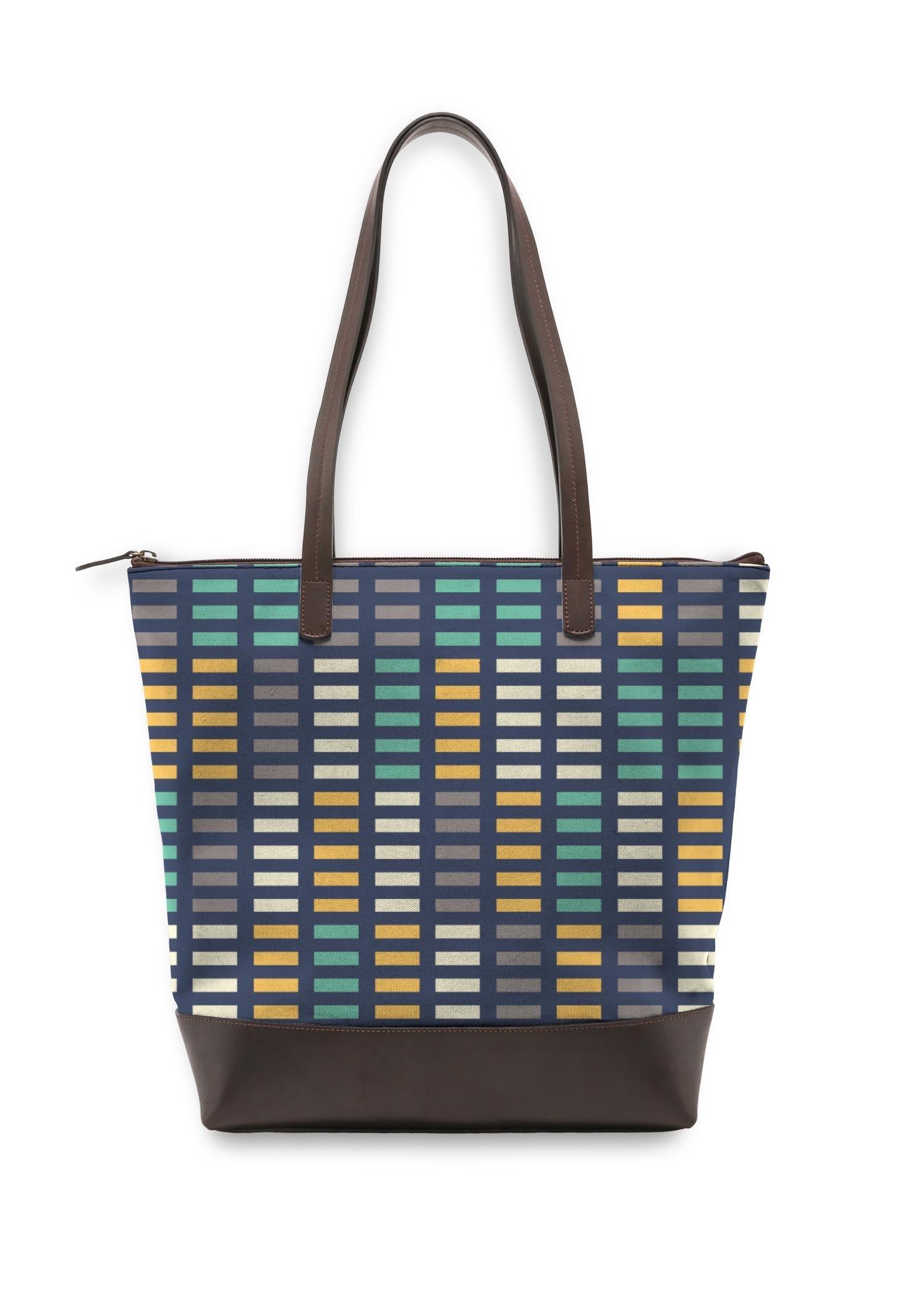 VIDA Statement Bag - Music Equalizer by VIDA Original Artist  - Size: One Size