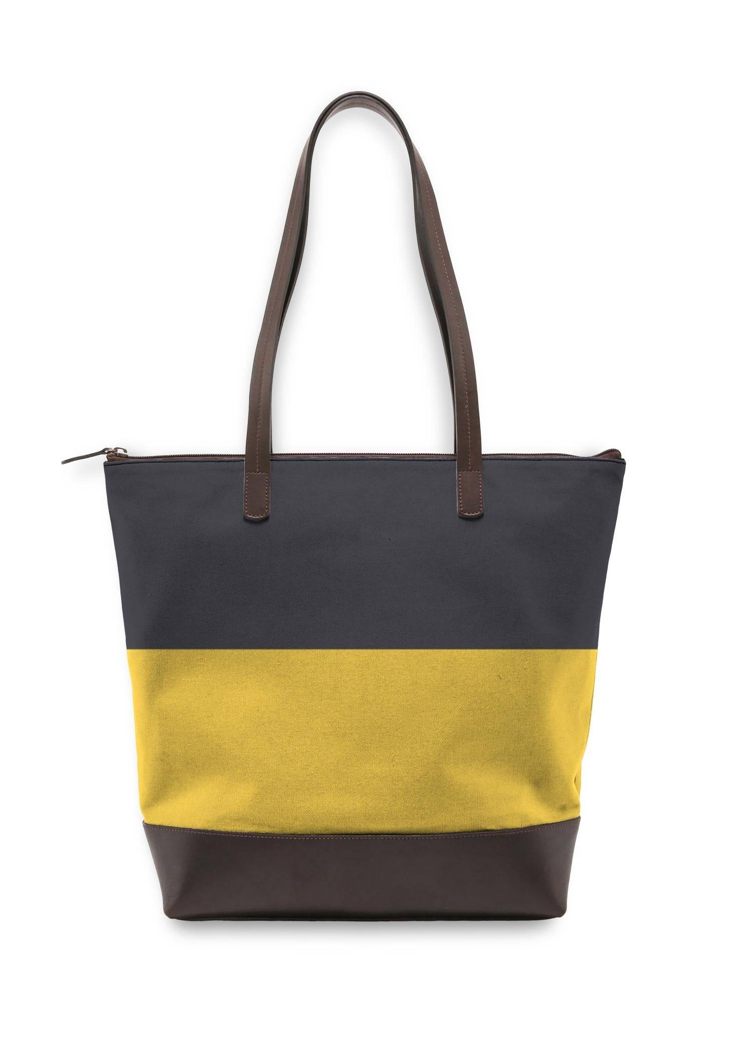 VIDA Statement Bag - Blue Yellow Fashion by VIDA Original Artist  - Size: One Size