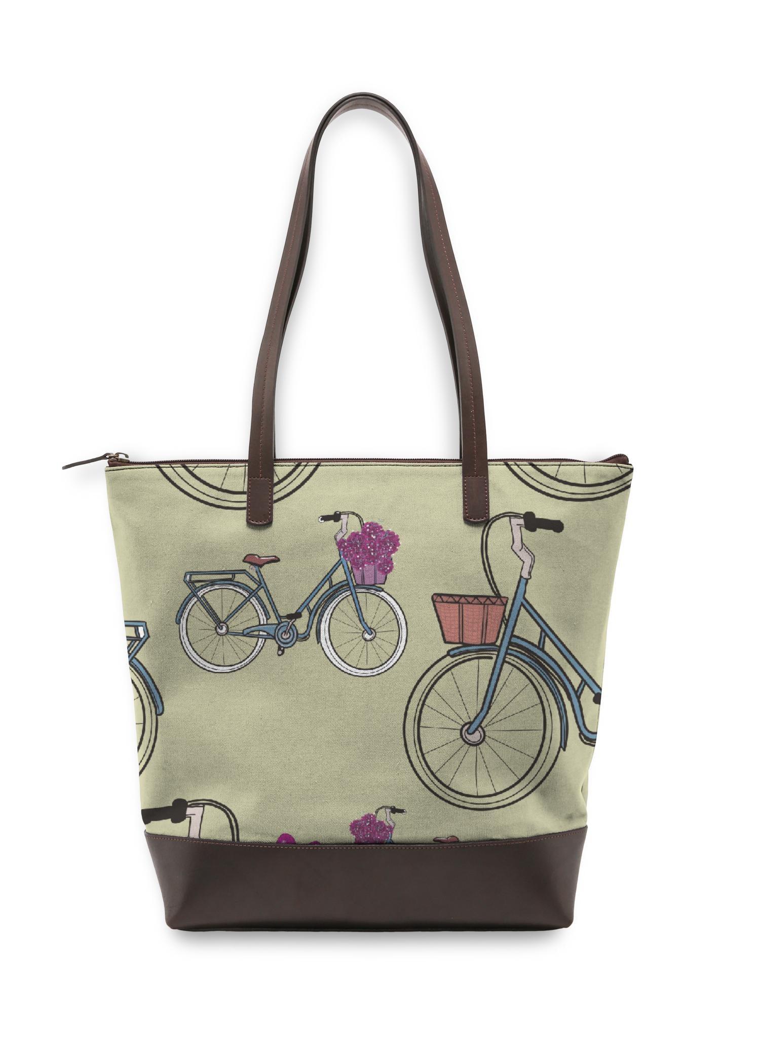 VIDA Statement Bag - Bike Day by VIDA Original Artist  - Size: One Size