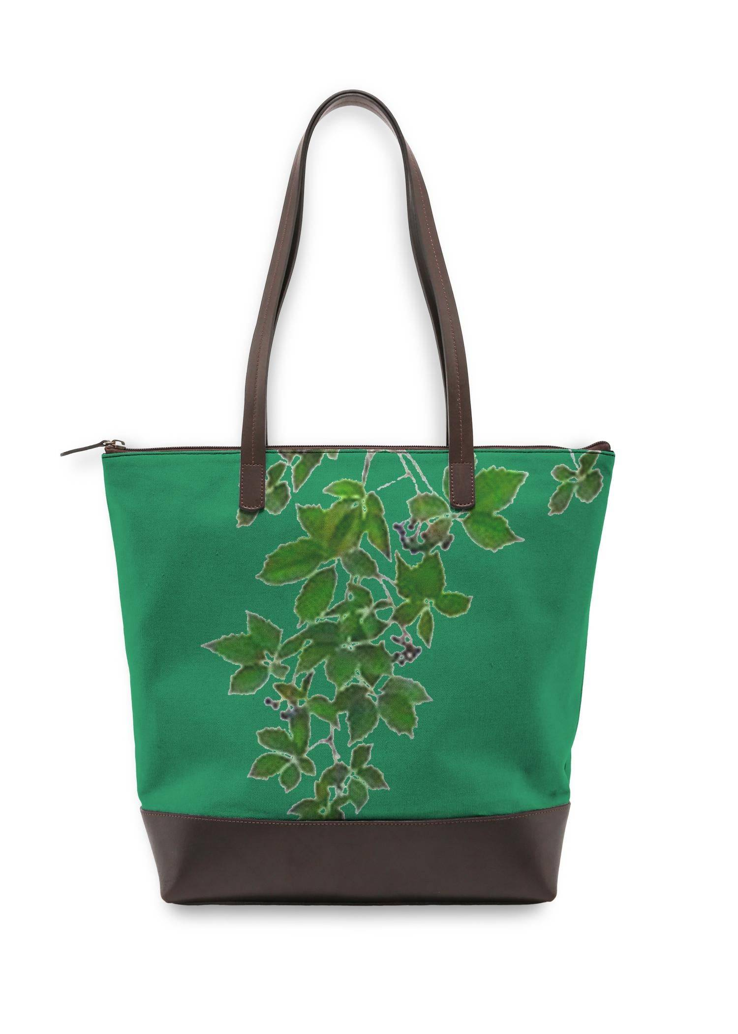VIDA Statement Bag - Green Hanging Home Decor by VIDA Original Artist  - Size: One Size