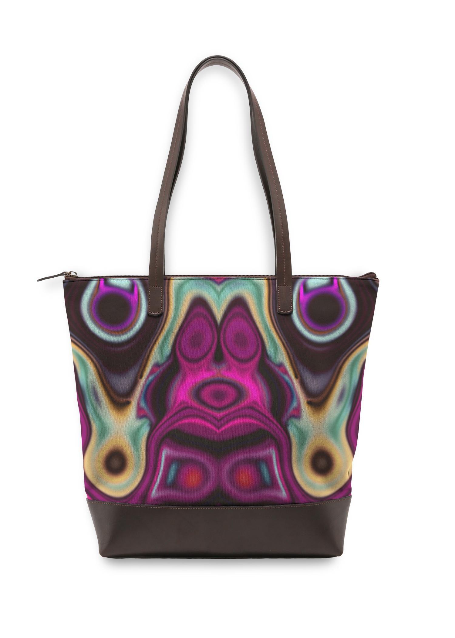 VIDA Statement Bag - Fashion Circles 7 by VIDA Original Artist  - Size: One Size