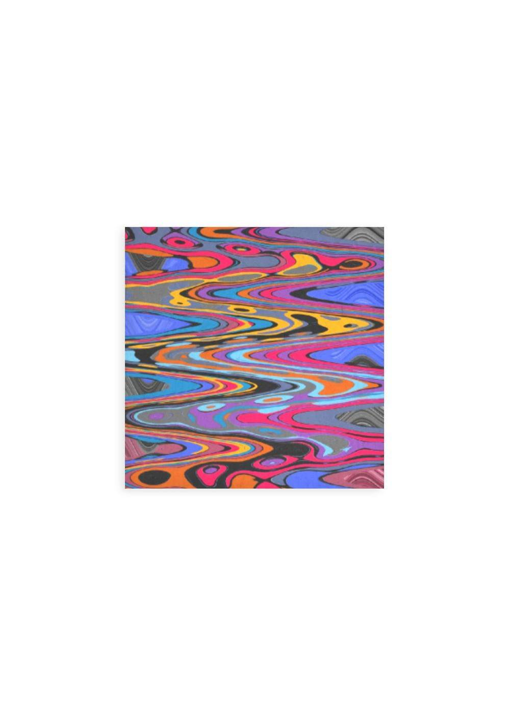 VIDA Wood Wall Art - 12x12 - Vibration Pop Music 2021 by VIDA Original Artist  - Size: Small
