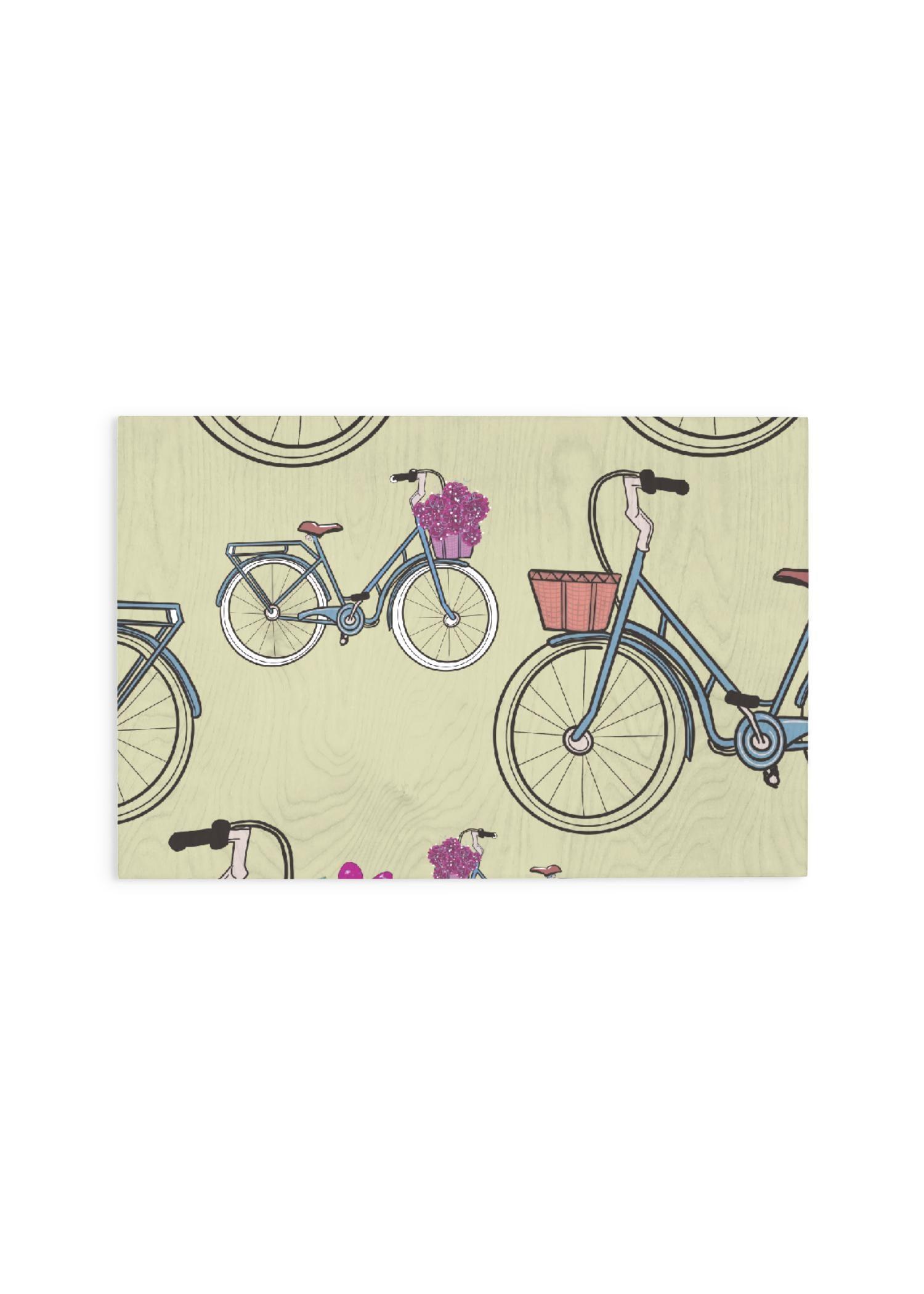 VIDA Wood Wall Art - 30x20 - Bike Day by VIDA Original Artist  - Size: Large