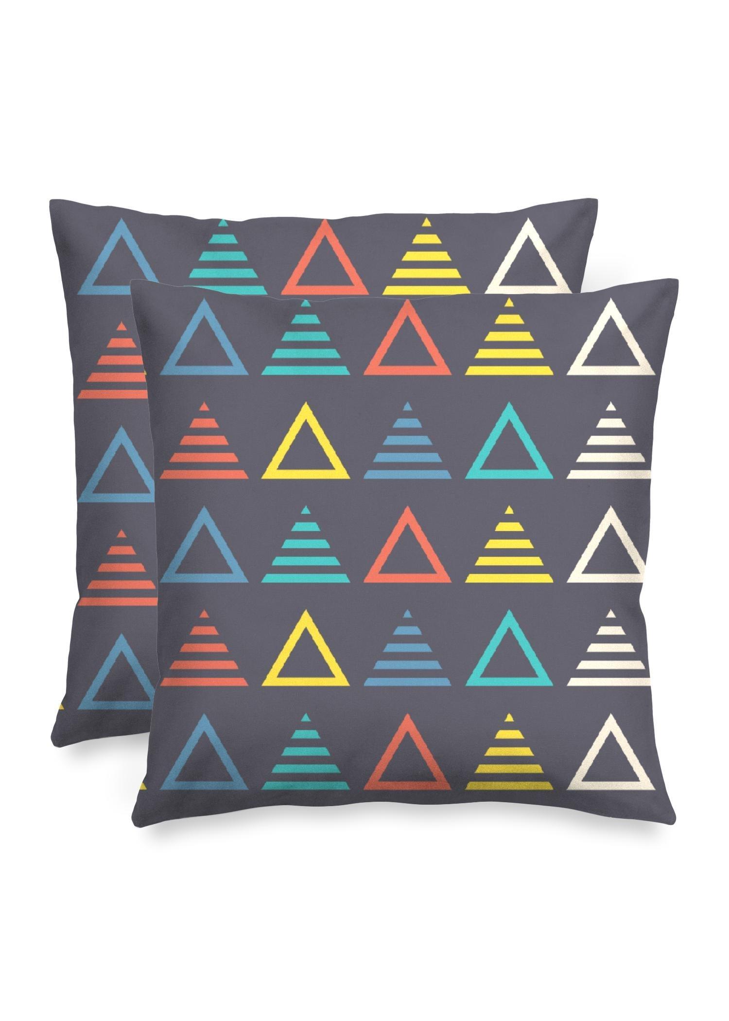 "VIDA Square Pillow - Music Symmetric Triangle by VIDA Original Artist  - Size: Matte / 16"" / Single"