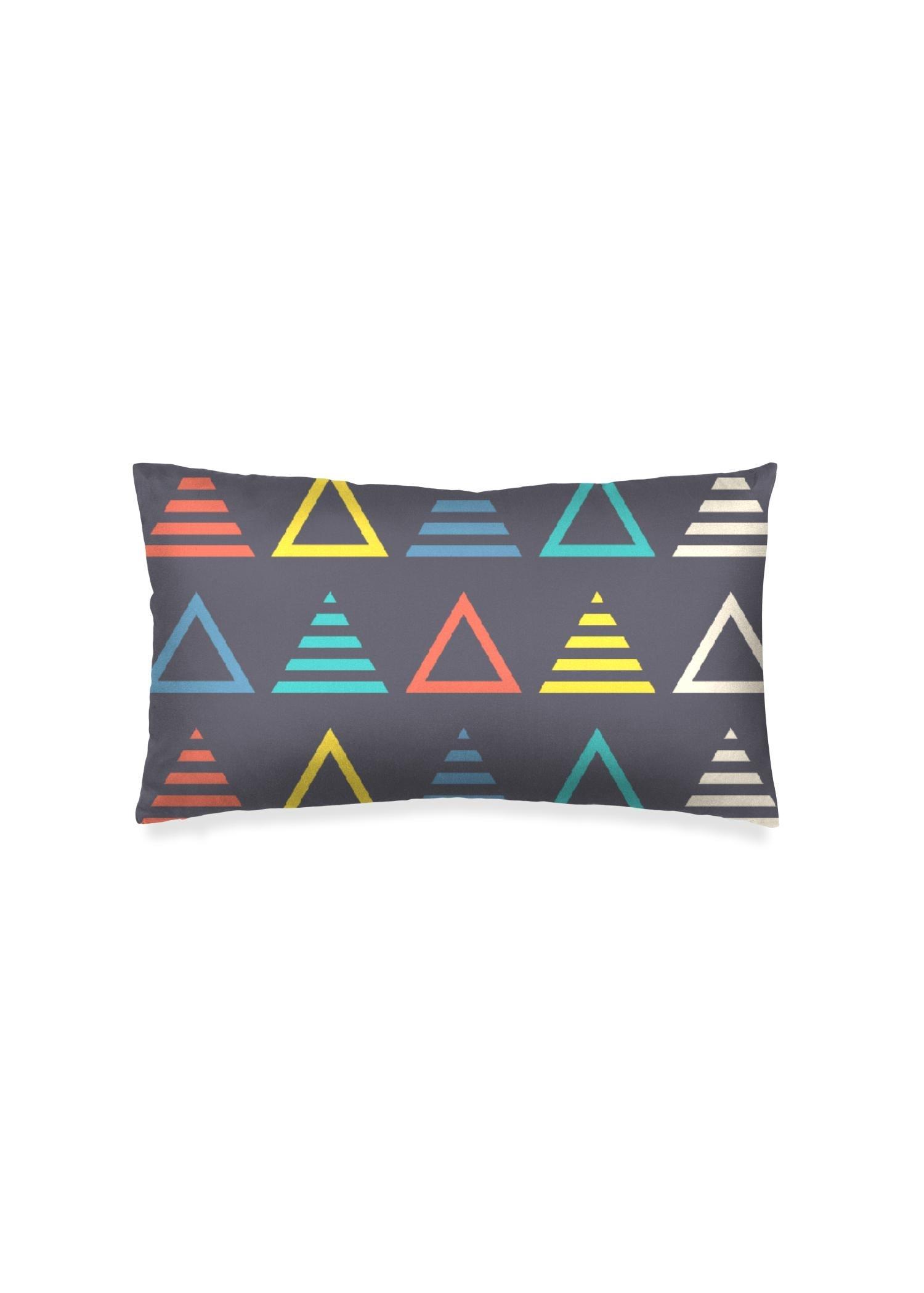 VIDA Oblong Pillow - Music Symmetric Triangle by VIDA Original Artist  - Size: Matte