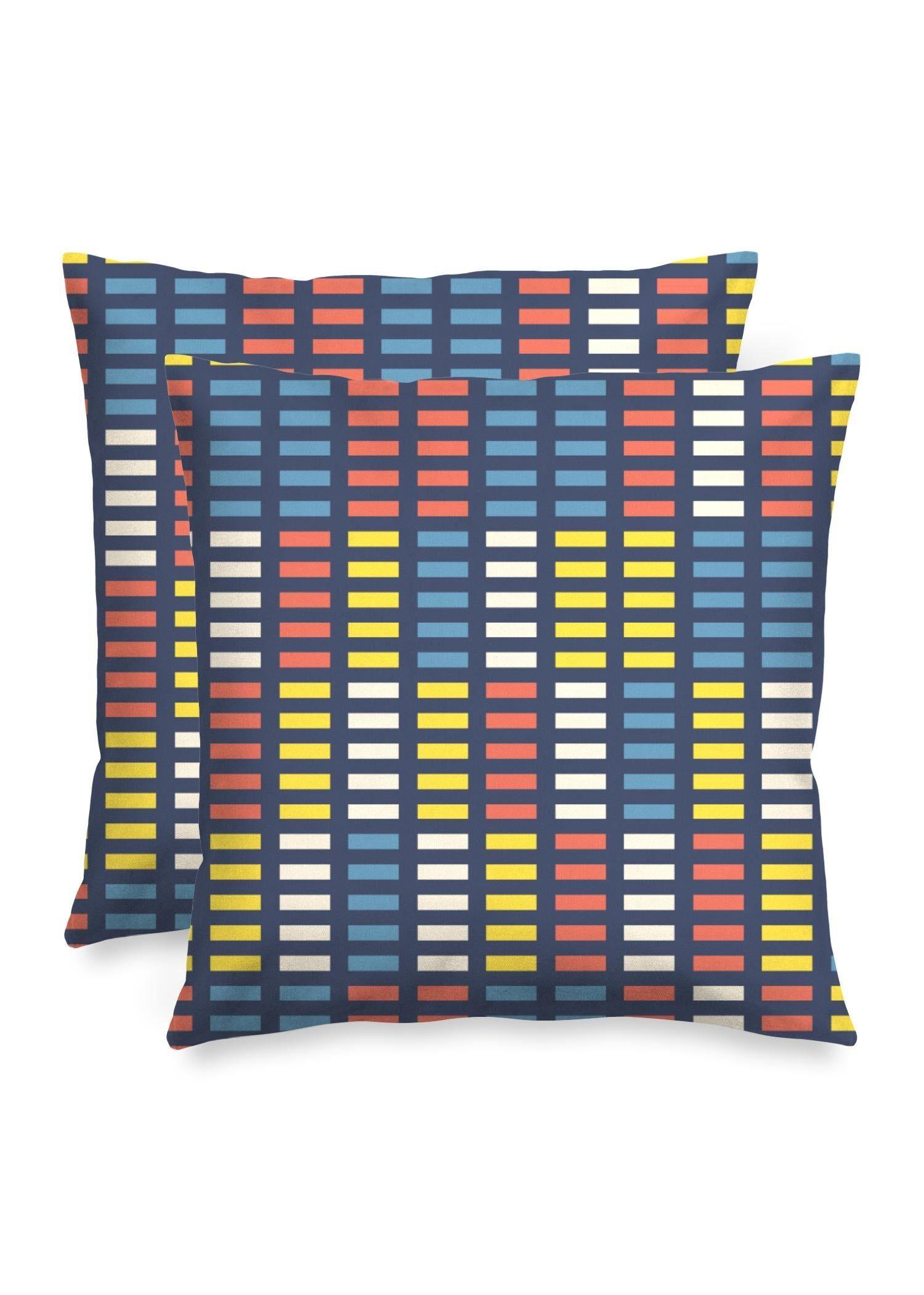 """VIDA Square Pillow - Retro Music Equalizer by VIDA Original Artist  - Size: Matte / 16"""" / Single"""