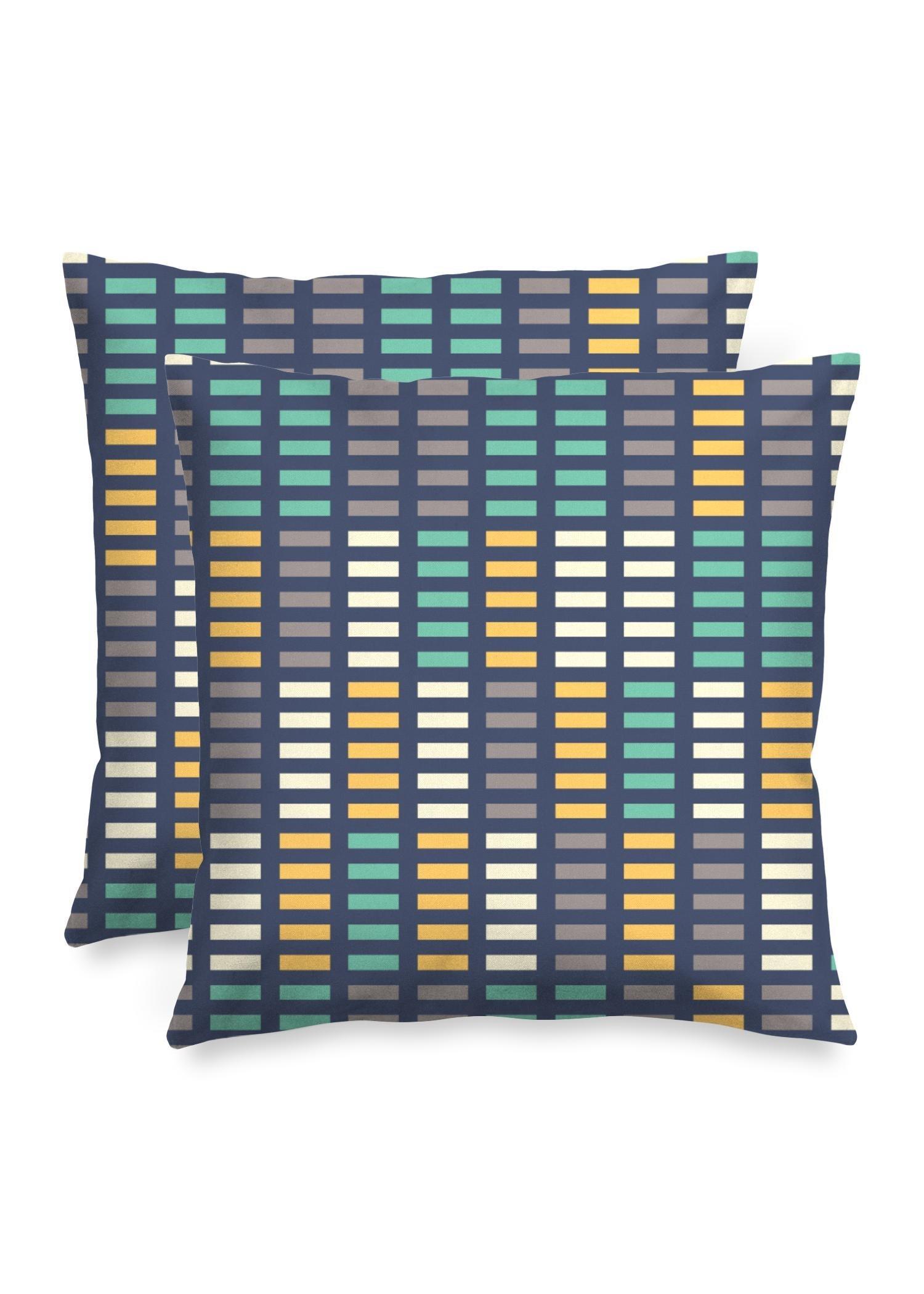 "VIDA Square Pillow - Music Equalizer by VIDA Original Artist  - Size: Luster / 20"" / Set"
