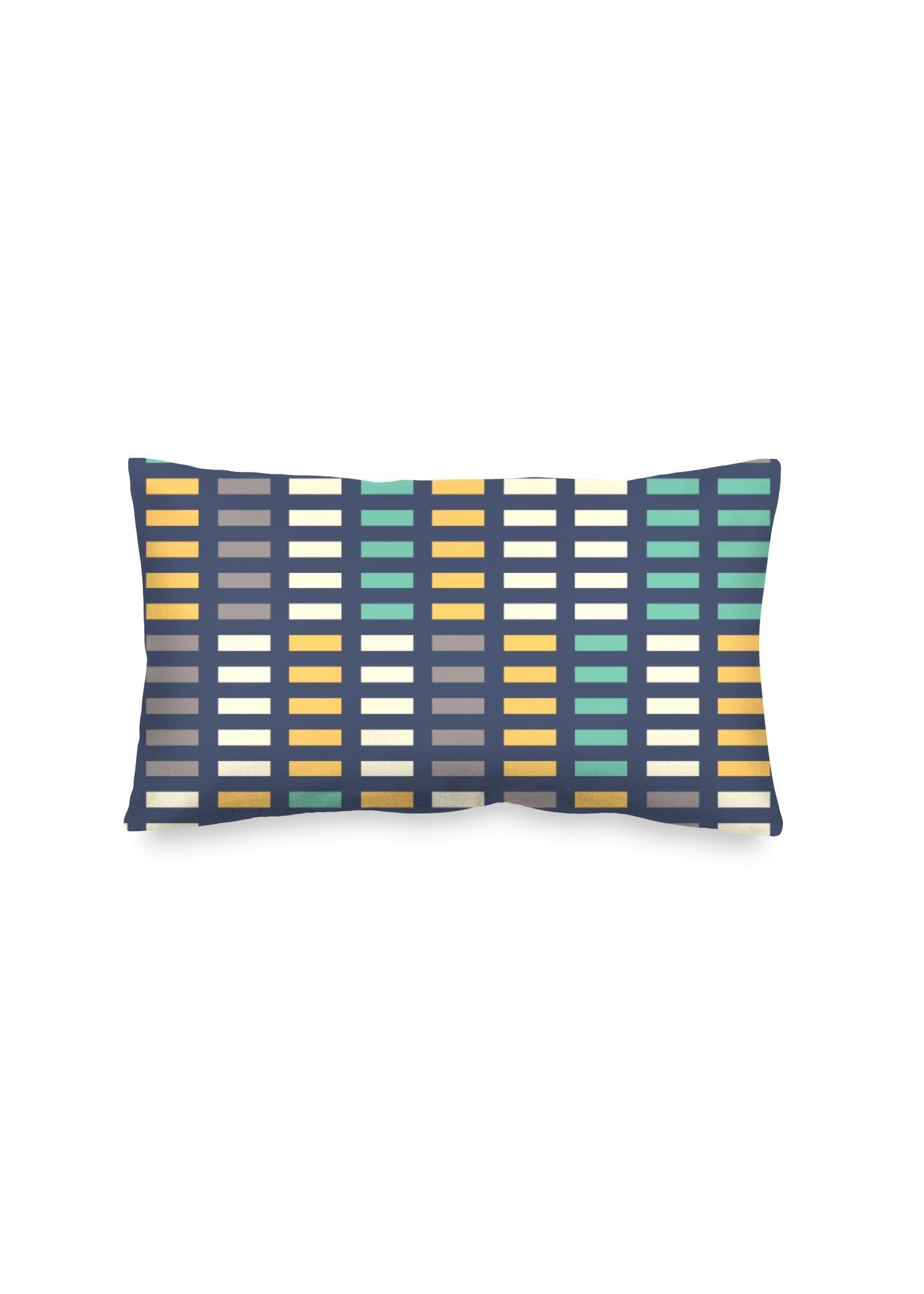 VIDA Oblong Pillow - Music Equalizer by VIDA Original Artist  - Size: Luster