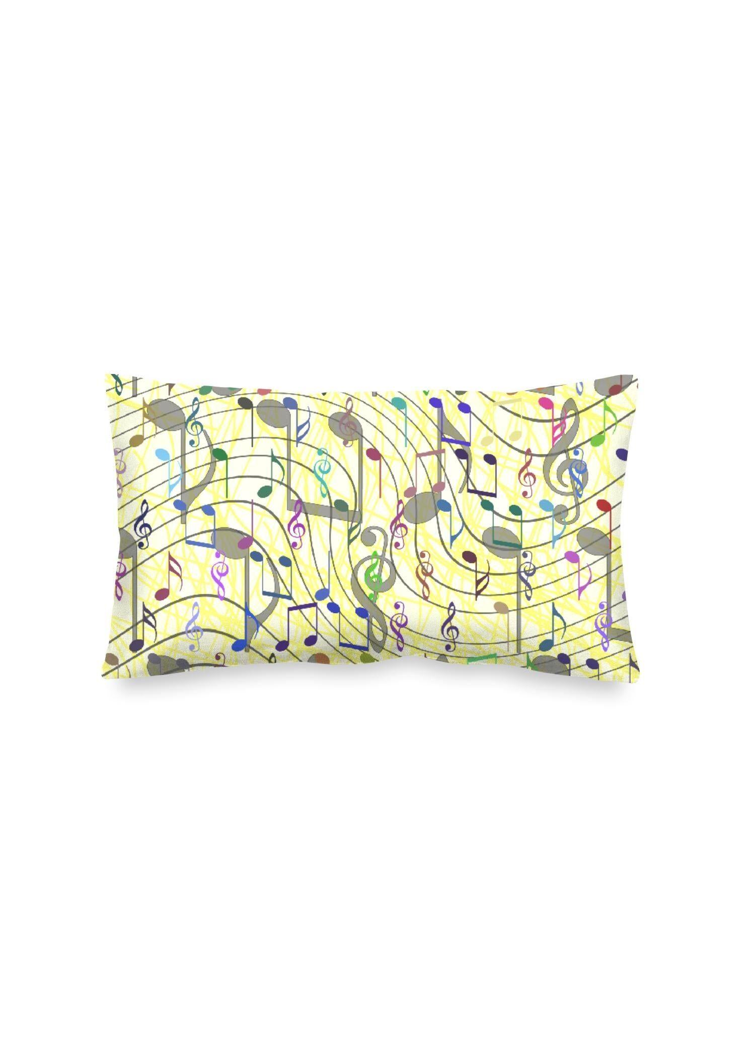VIDA Oblong Pillow - Chaotic Music Notation by VIDA Original Artist  - Size: Luster