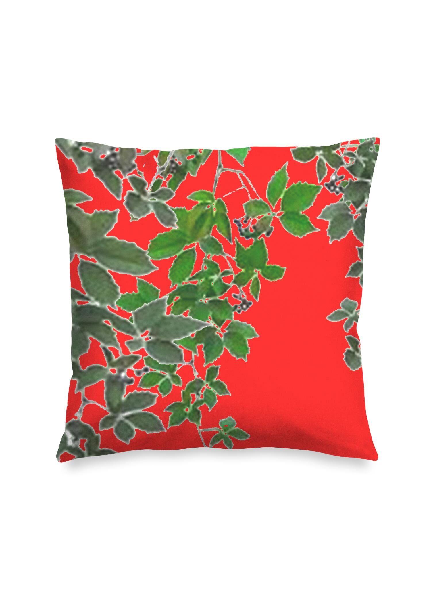 "VIDA Square Pillow - Red Hanging Home Decor  2 by VIDA Original Artist  - Size: Matte / 20"" / Single"