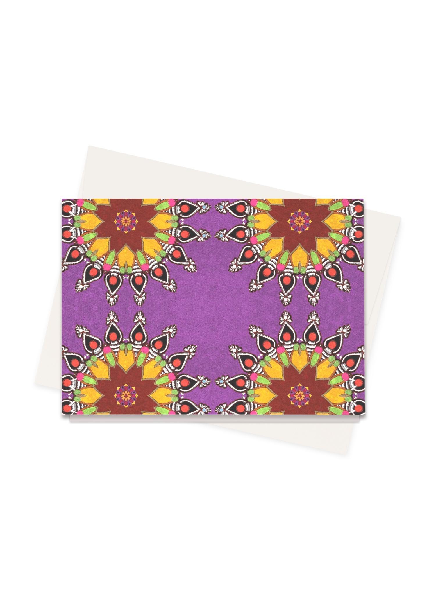VIDA Greeting Cards Set - The Mandala Pillow by VIDA Original Artist  - Size: Set of 8