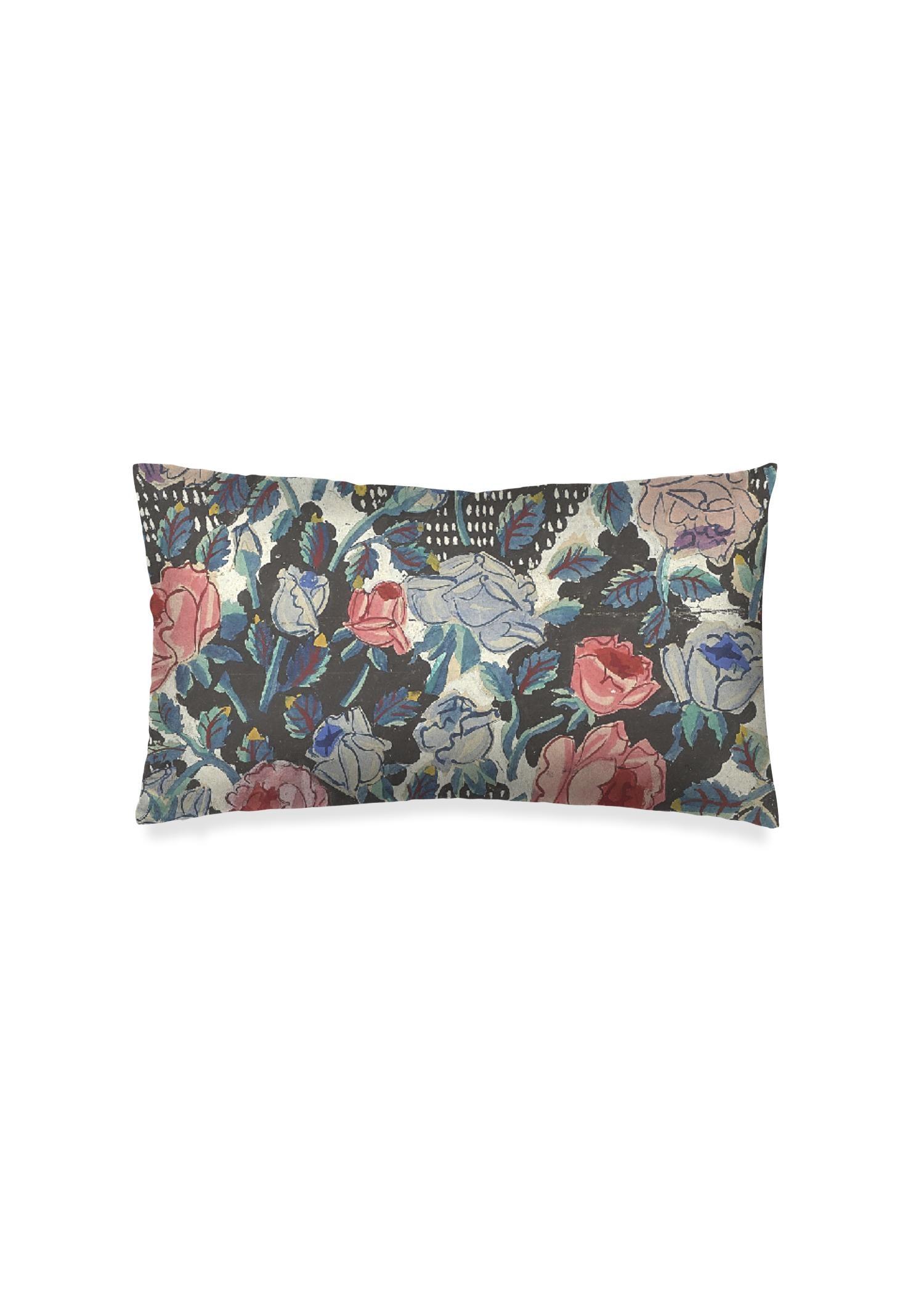 VIDA Oblong Pillow - Rose Garden by VIDA Original Artist  - Size: Luster