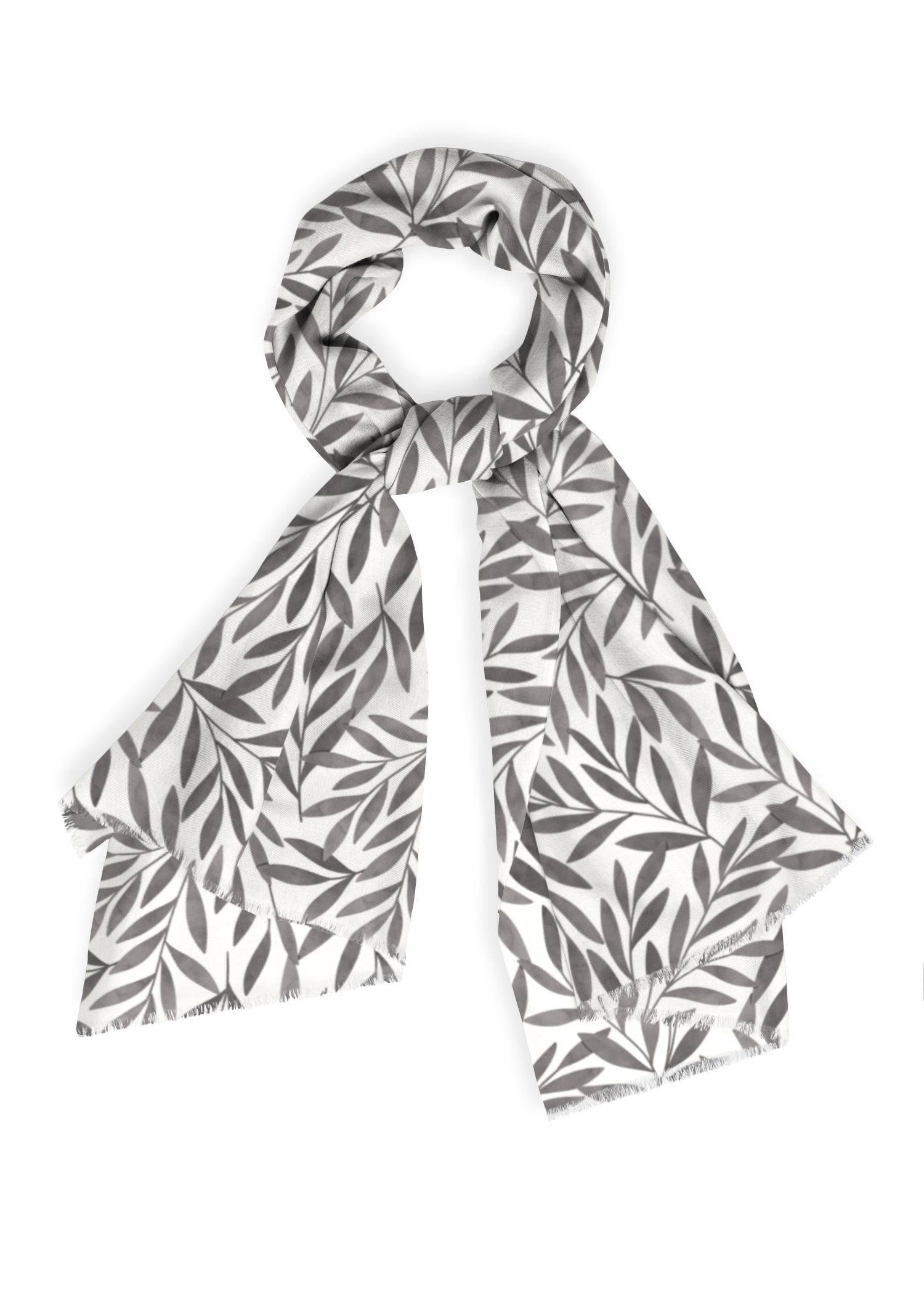 VIDA Cashmere Silk Scarf - Elegant Black Garden by VIDA Original Artist  - Size: One Size