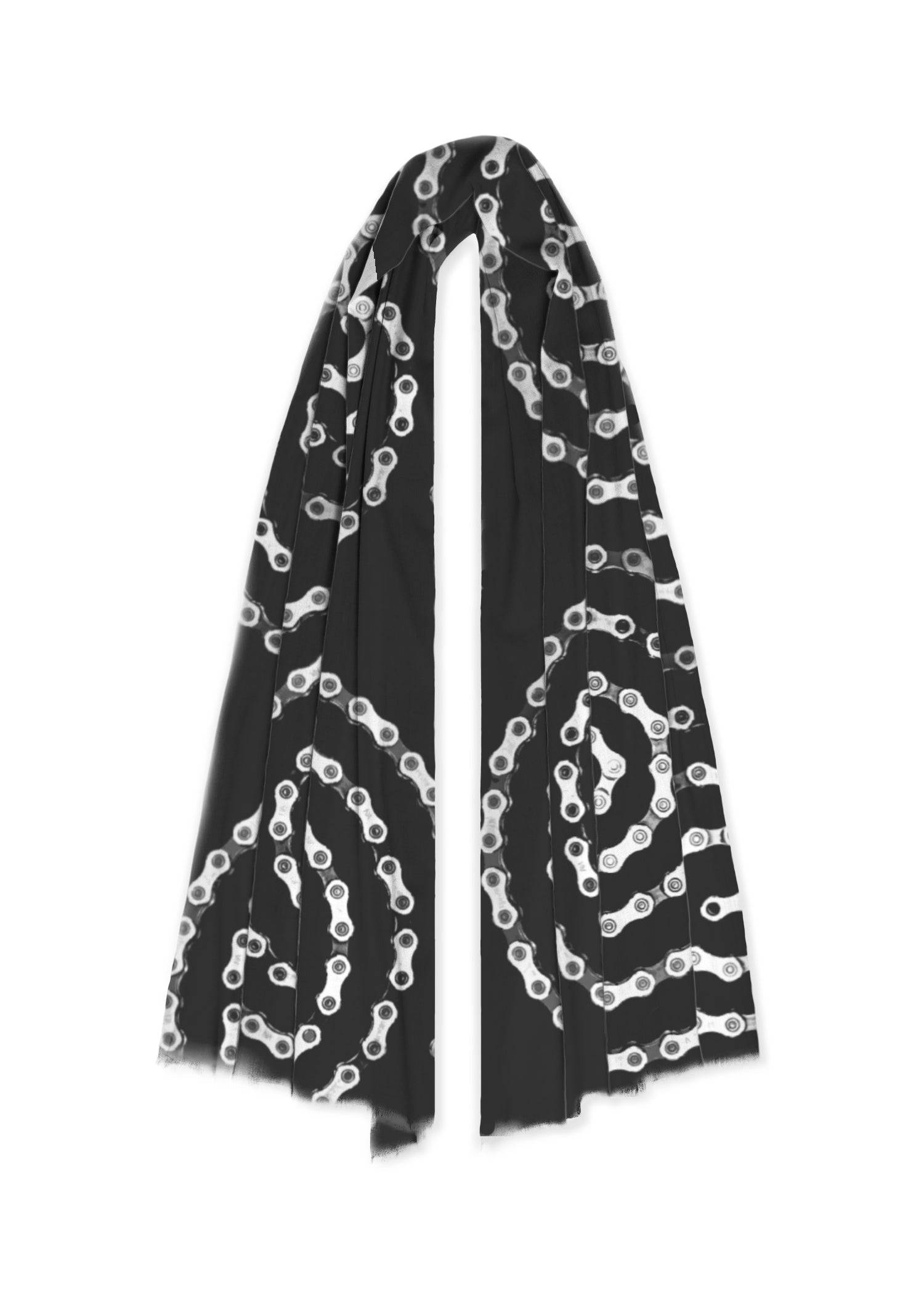 VIDA 100% Cashmere Scarf - Bike Chain Spiral by VIDA Original Artist  - Size: One Size