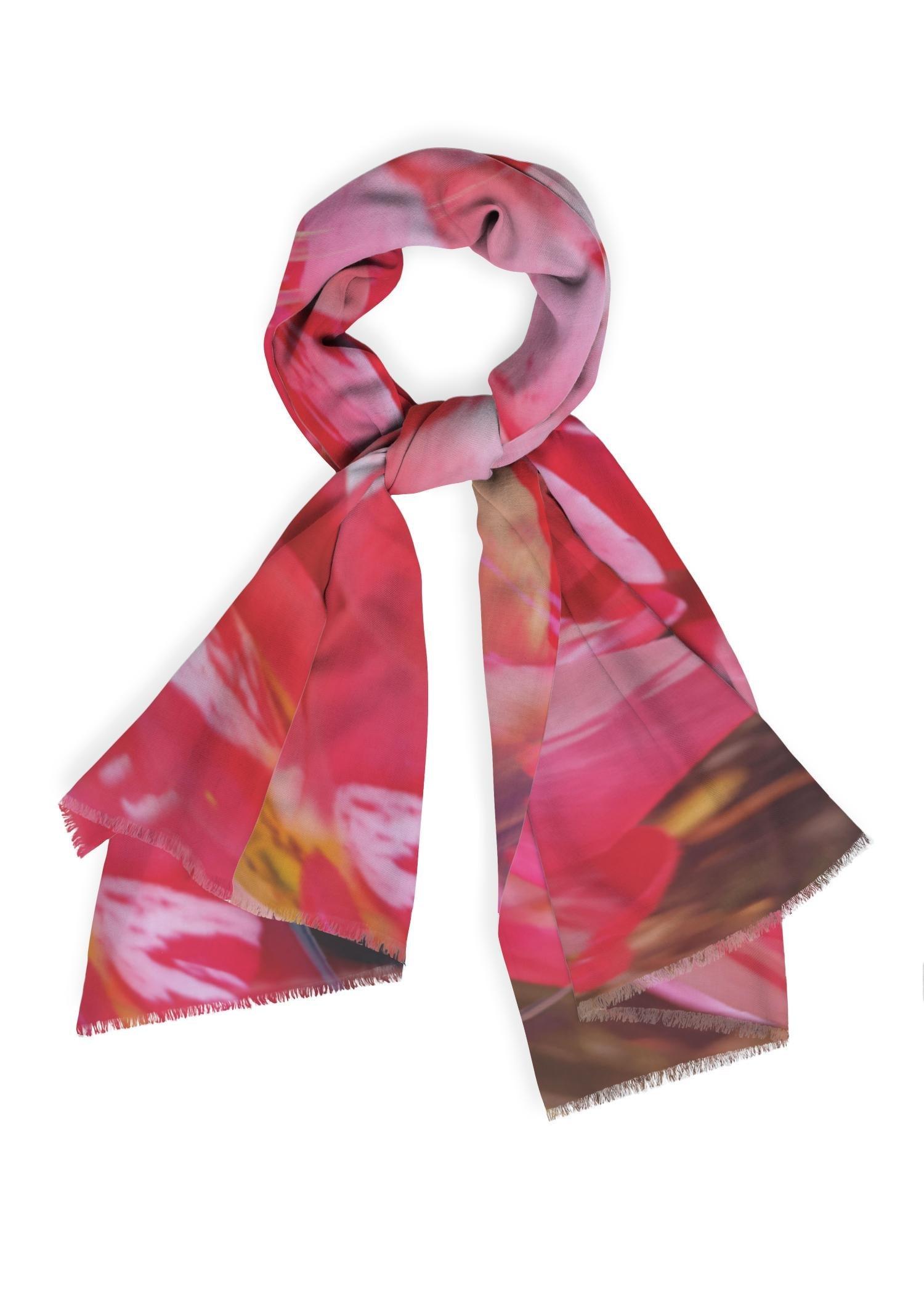 PRIDE Cashmere Silk Scarf - Abstract Garden #3 by PRIDE Original Artist  - Size: One Size