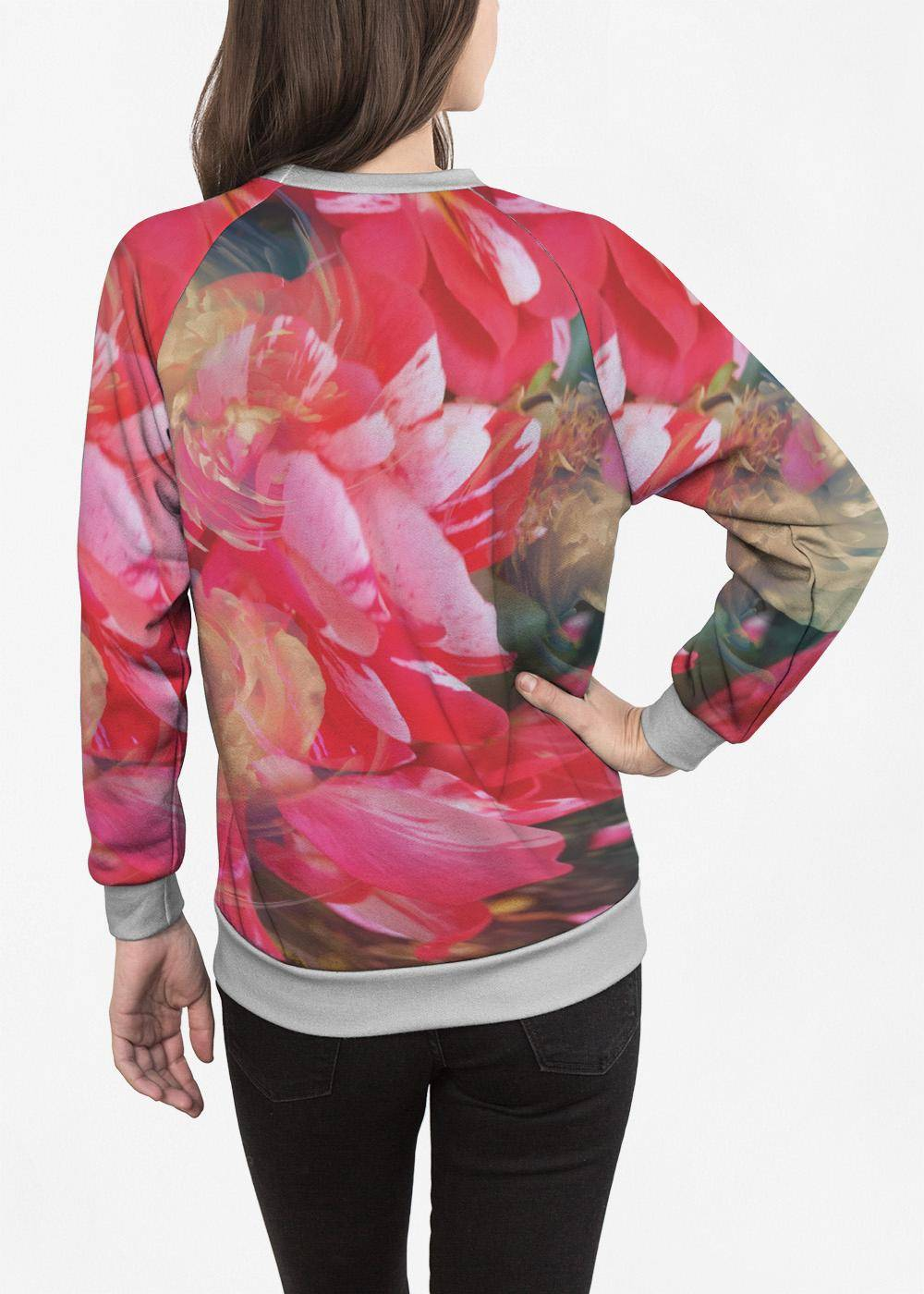 PRIDE Women's Crewneck Sweatshirt - Abstract Garden #3 by PRIDE Original Artist  - Size: Small