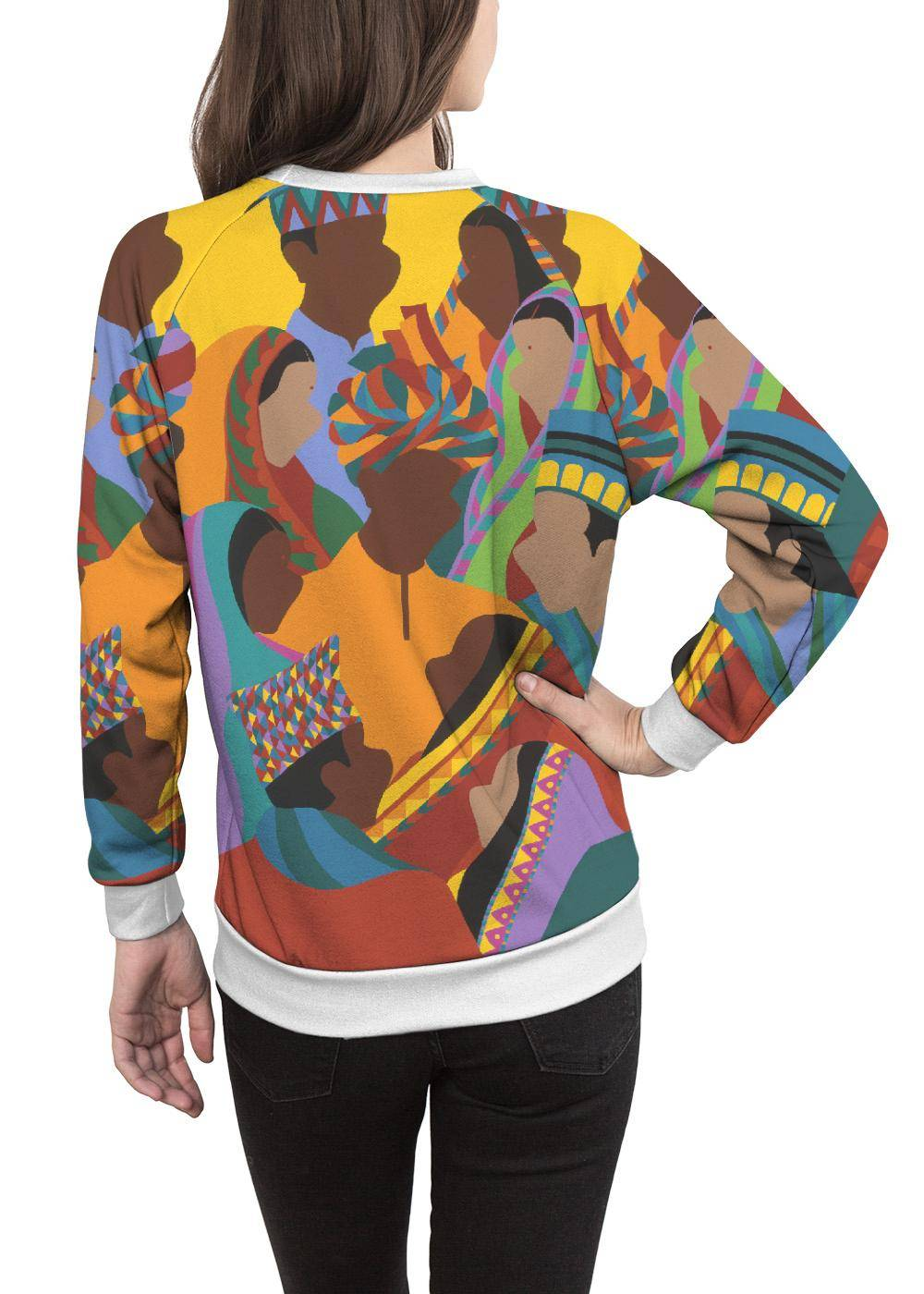Synthia Saint James Women's Crewneck Sweatshirt - Diwali by Synthia Saint James Original Artist  - Size: Large