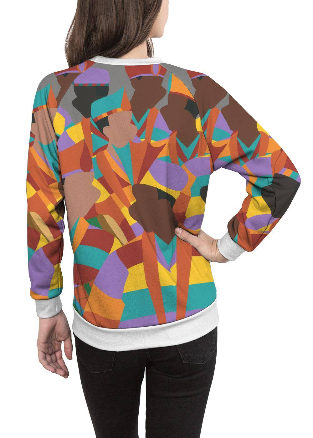 Synthia Saint James Women's Crewneck Sweatshirt - Diwali Trinidad by Synthia Saint James Original Artist  - Size: Extra Small