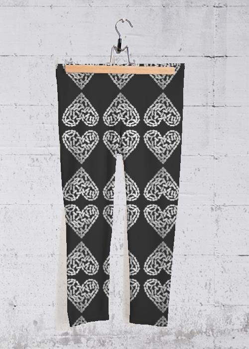 VIDA Yoga Capri Pants - Bike Chain Heart by VIDA Original Artist  - Size: Small
