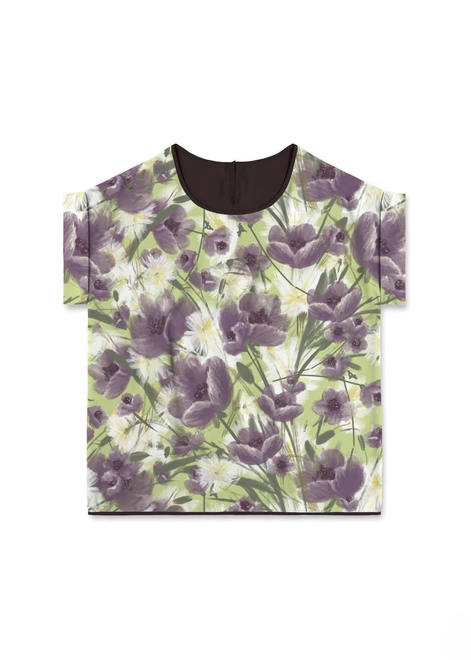 VIDA Modern Tee - Mellow Garden Too by VIDA Original Artist  - Size: Medium