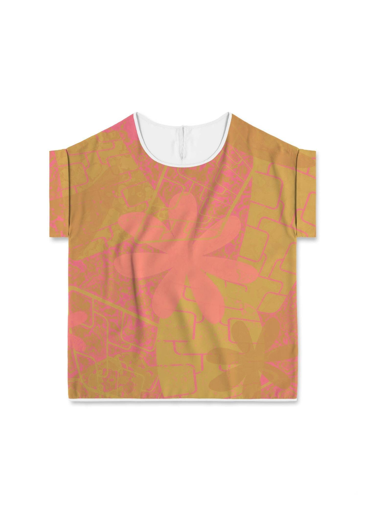 VIDA Modern Tee - Garden Trellis; Rose Gold by VIDA Original Artist  - Size: Medium