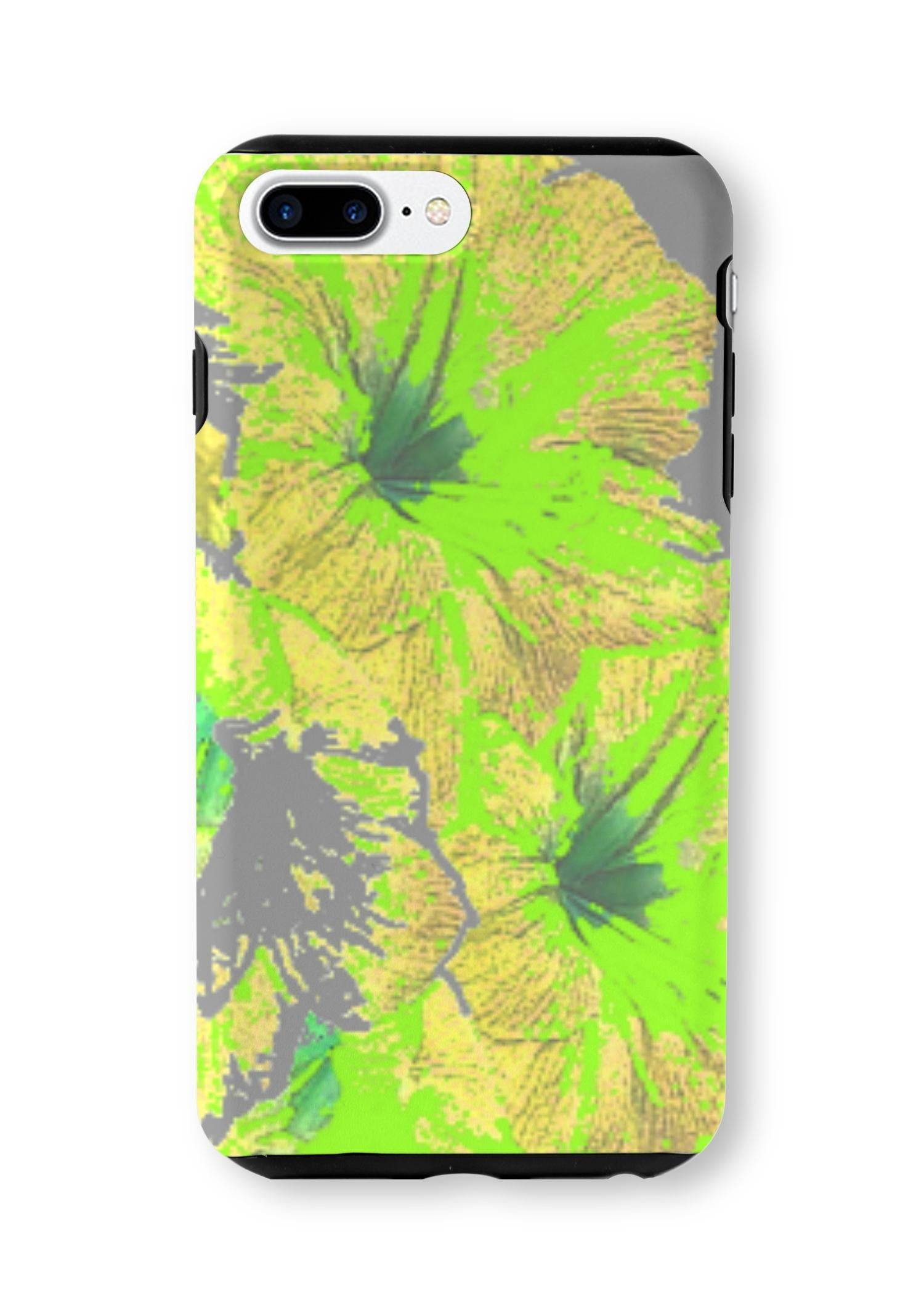 VIDA iPhone Case - Yellow Floral Garden Art by VIDA Original Artist  - Size: iPhone 7/8 PLUS / Tough