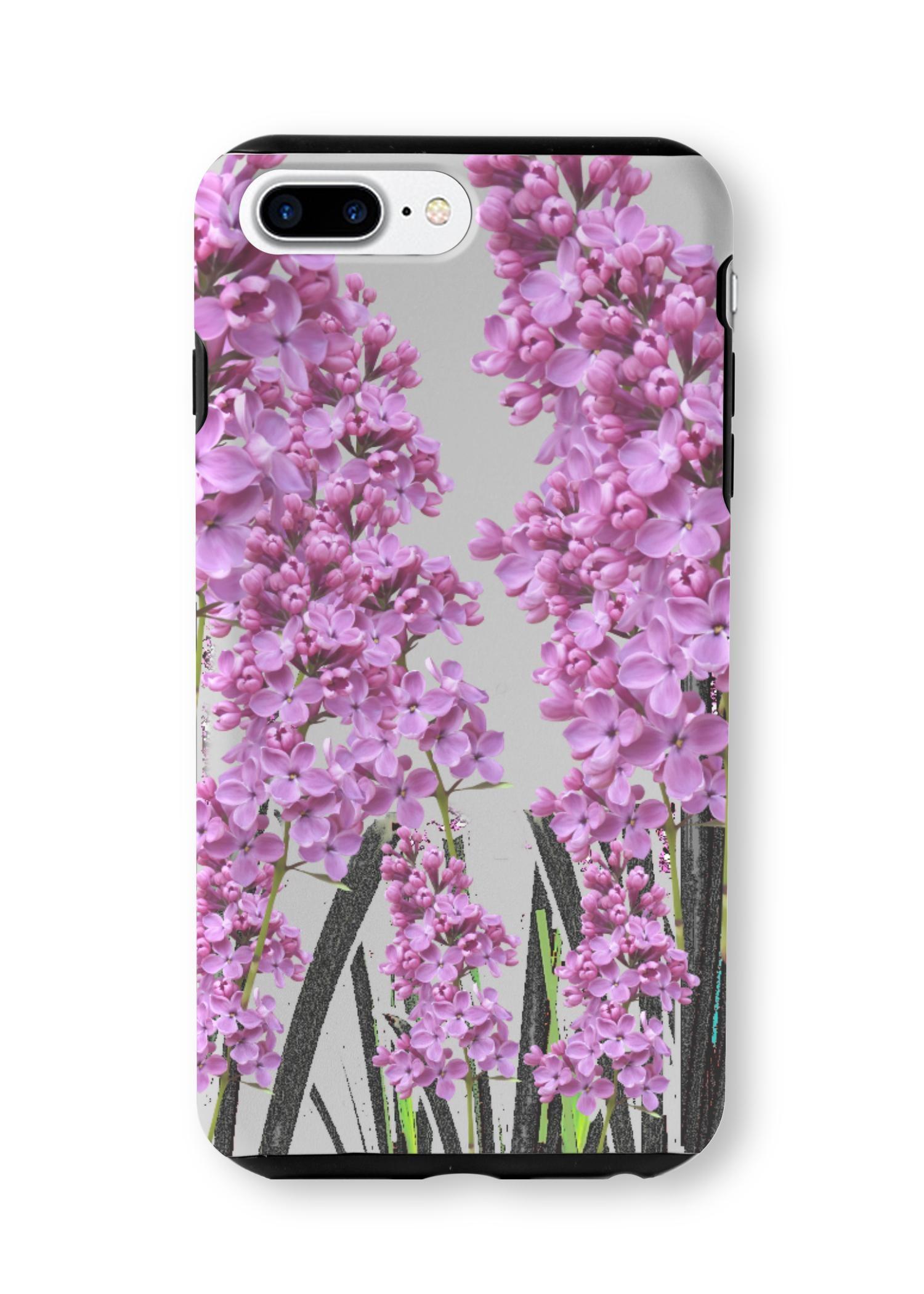 VIDA iPhone Case - Spring Purple Garden Art by VIDA Original Artist  - Size: iPhone 7/8 PLUS / Tough