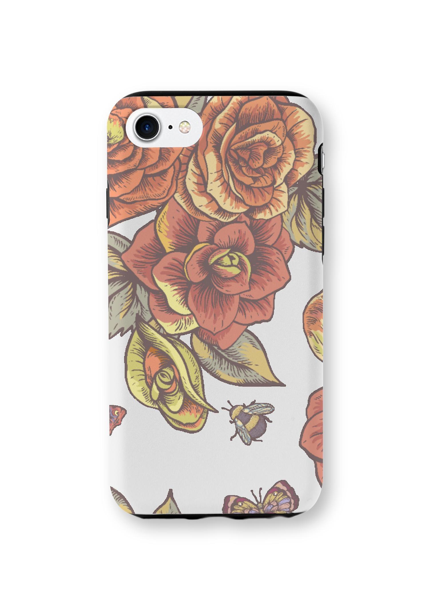 VIDA iPhone Case - Vintage Rose Garden by VIDA Original Artist  - Size: iPhone 7/8 / Tough