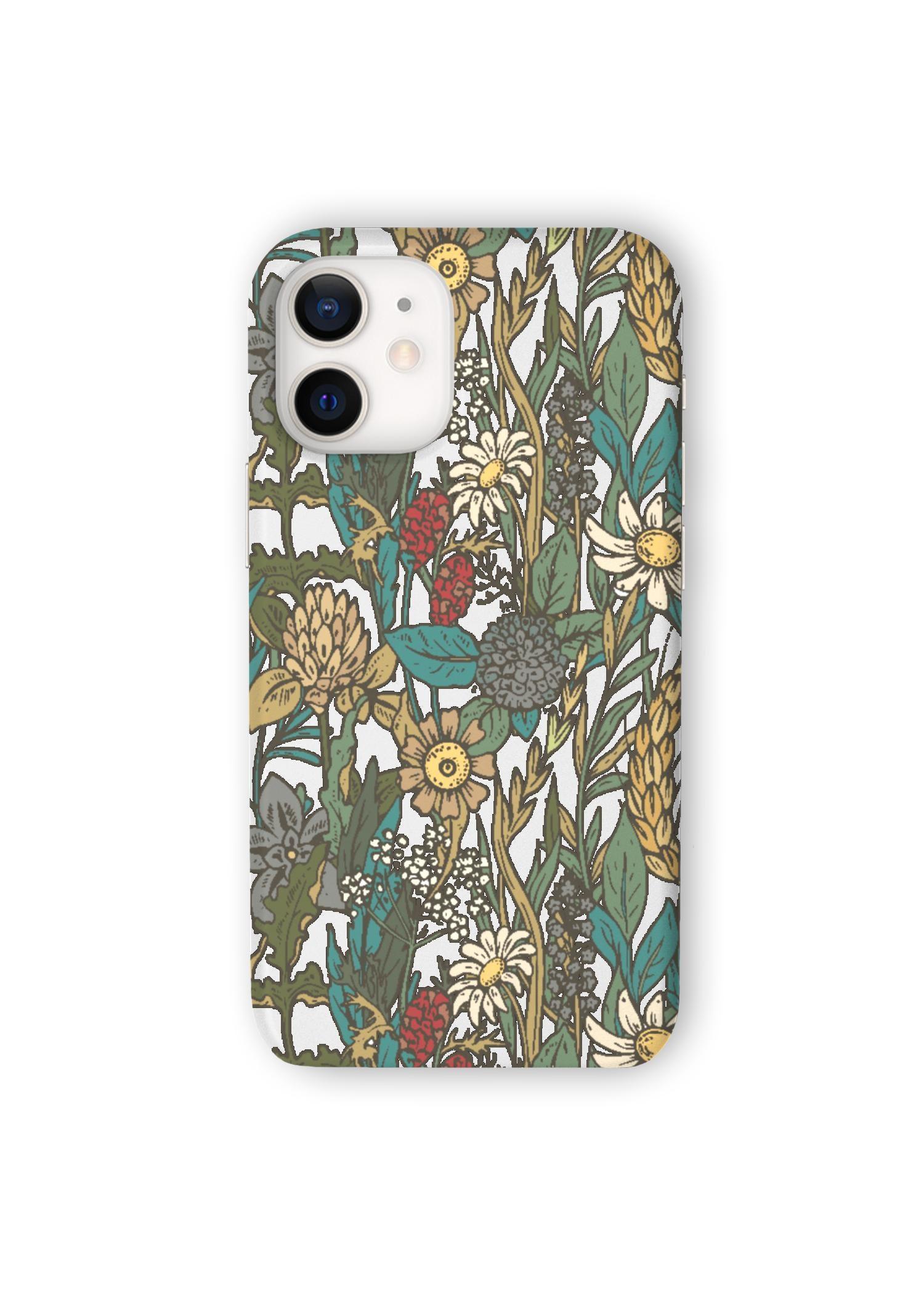 VIDA iPhone Case - Wild Flower Garden by VIDA Original Artist  - Size: iPhone 12 Mini / Ultraslim
