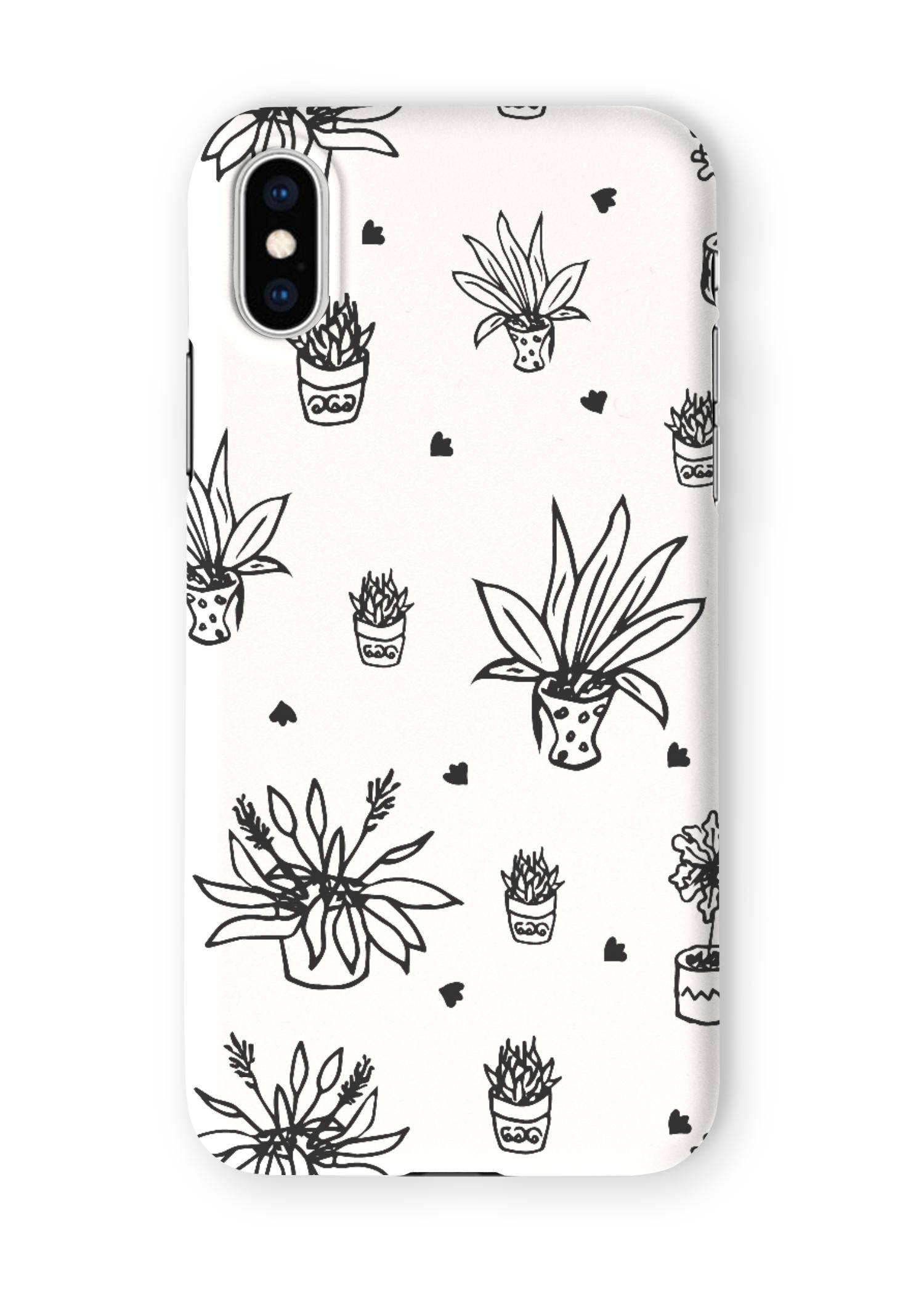 VIDA iPhone Case - Home Flowers Doodles Bw by VIDA Original Artist  - Size: Extra Small