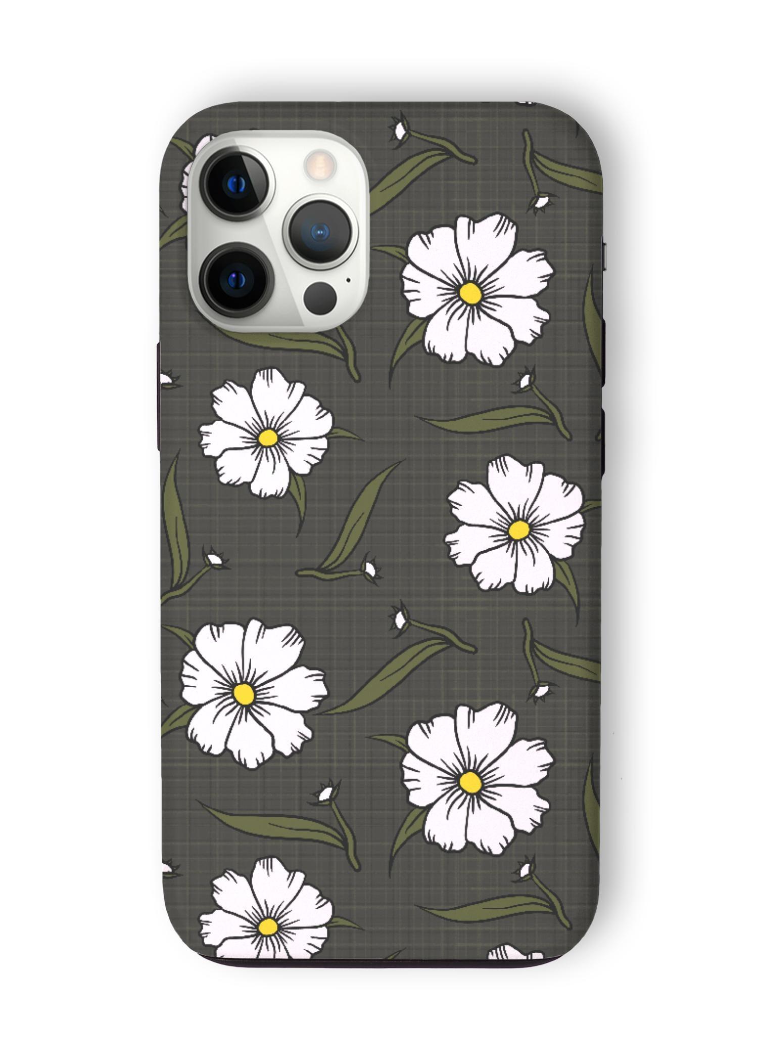 VIDA iPhone Case - Lovely Garden in White by VIDA Original Artist  - Size: iPhone 12 Pro Max / Tough