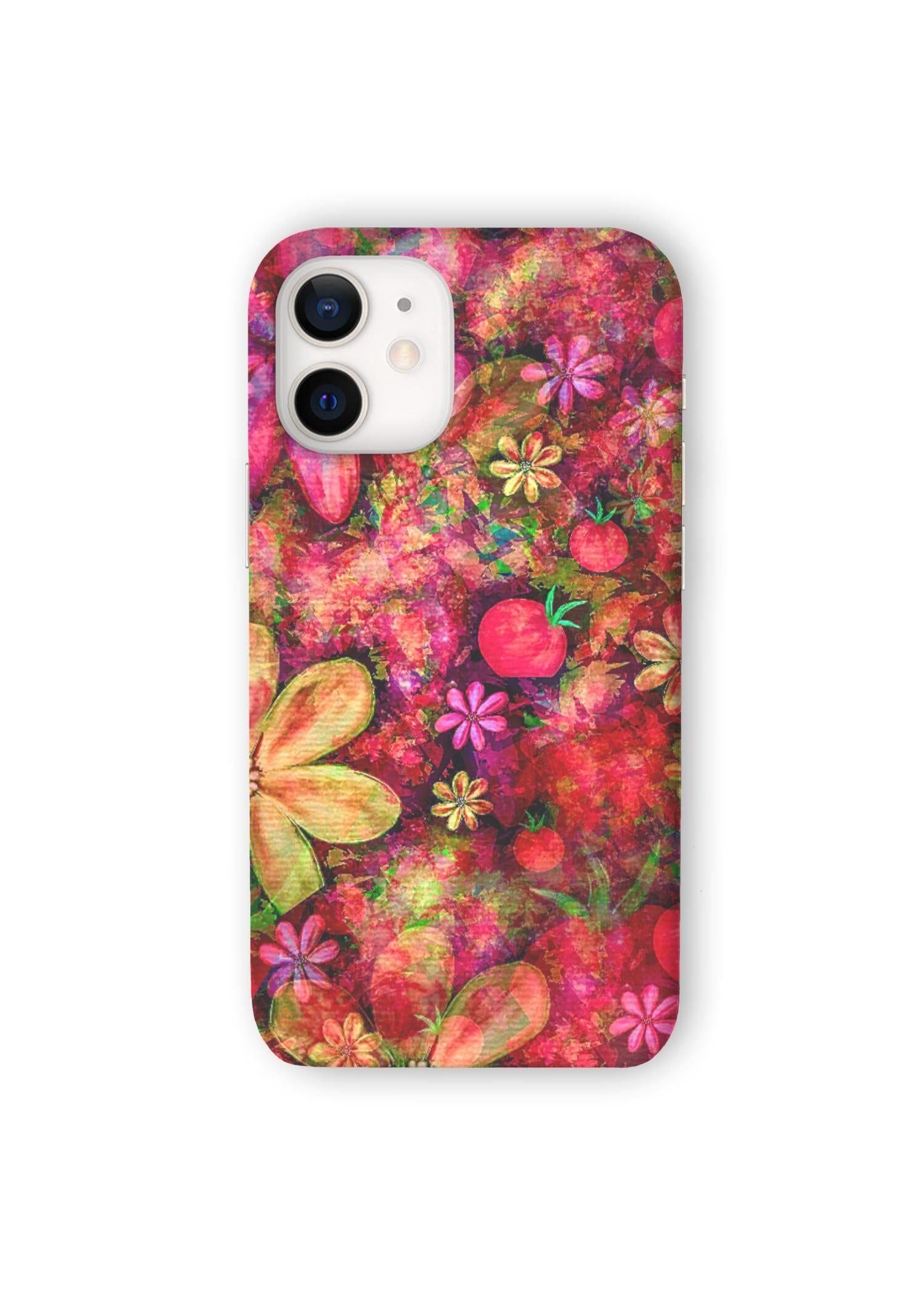 VIDA iPhone Case - Garden Collage by VIDA Original Artist  - Size: iPhone 12 Mini / Ultraslim