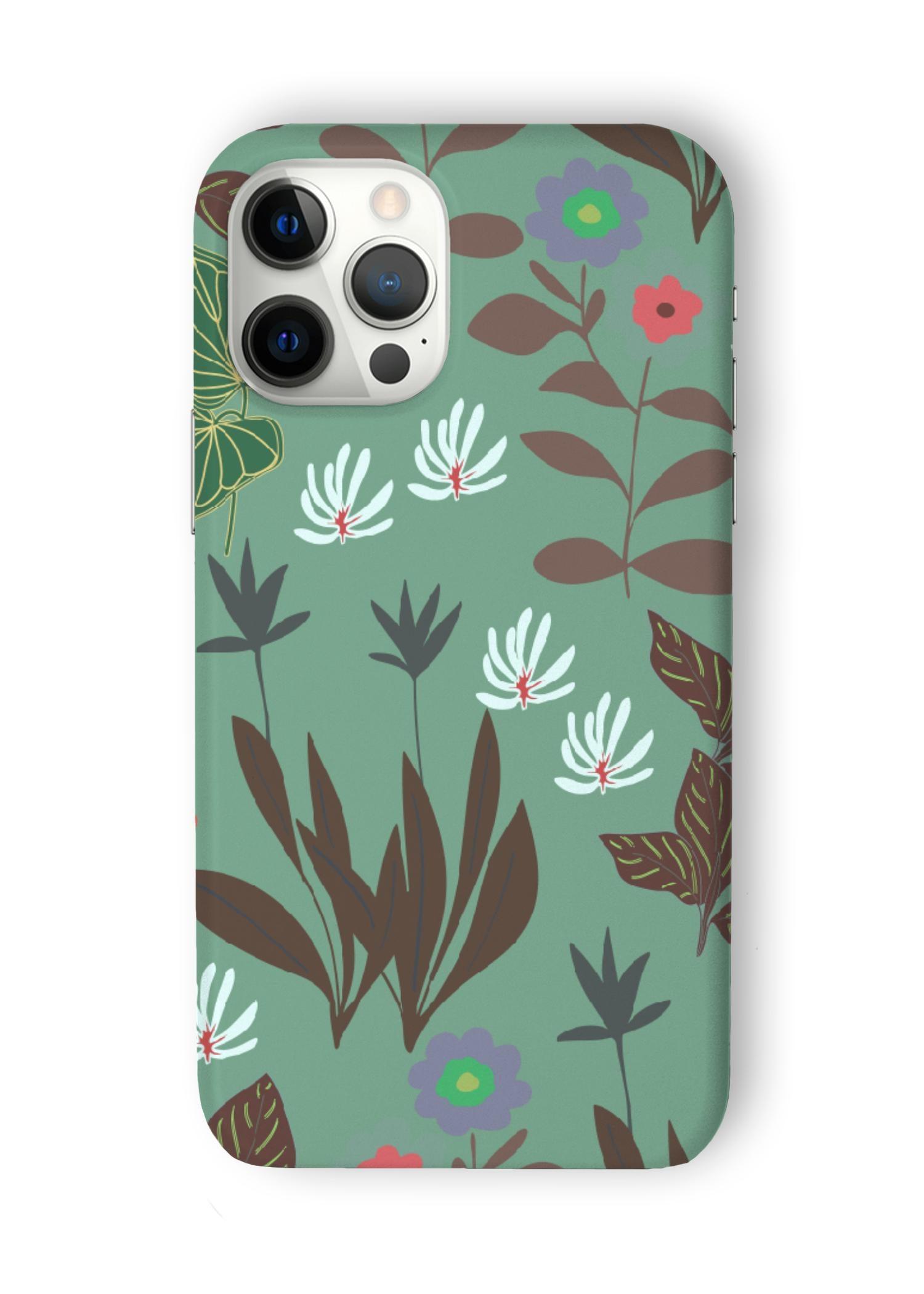 VIDA iPhone Case - Tropical Garden by VIDA Original Artist  - Size: iPhone 12 Pro Max / Ultraslim