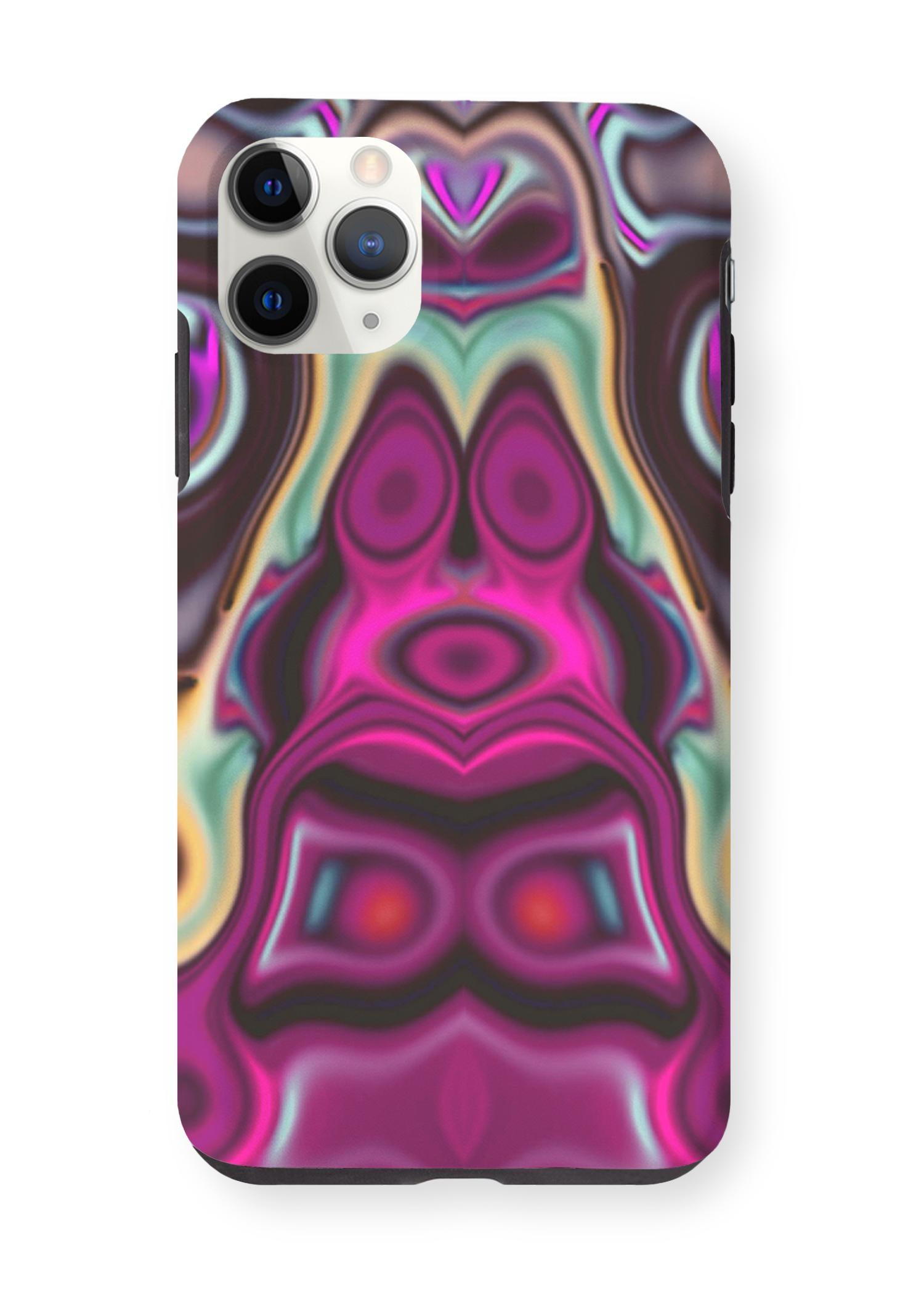 VIDA iPhone Case - Fashion Circles 7 by VIDA Original Artist  - Size: iPhone 11 Pro Max / Tough