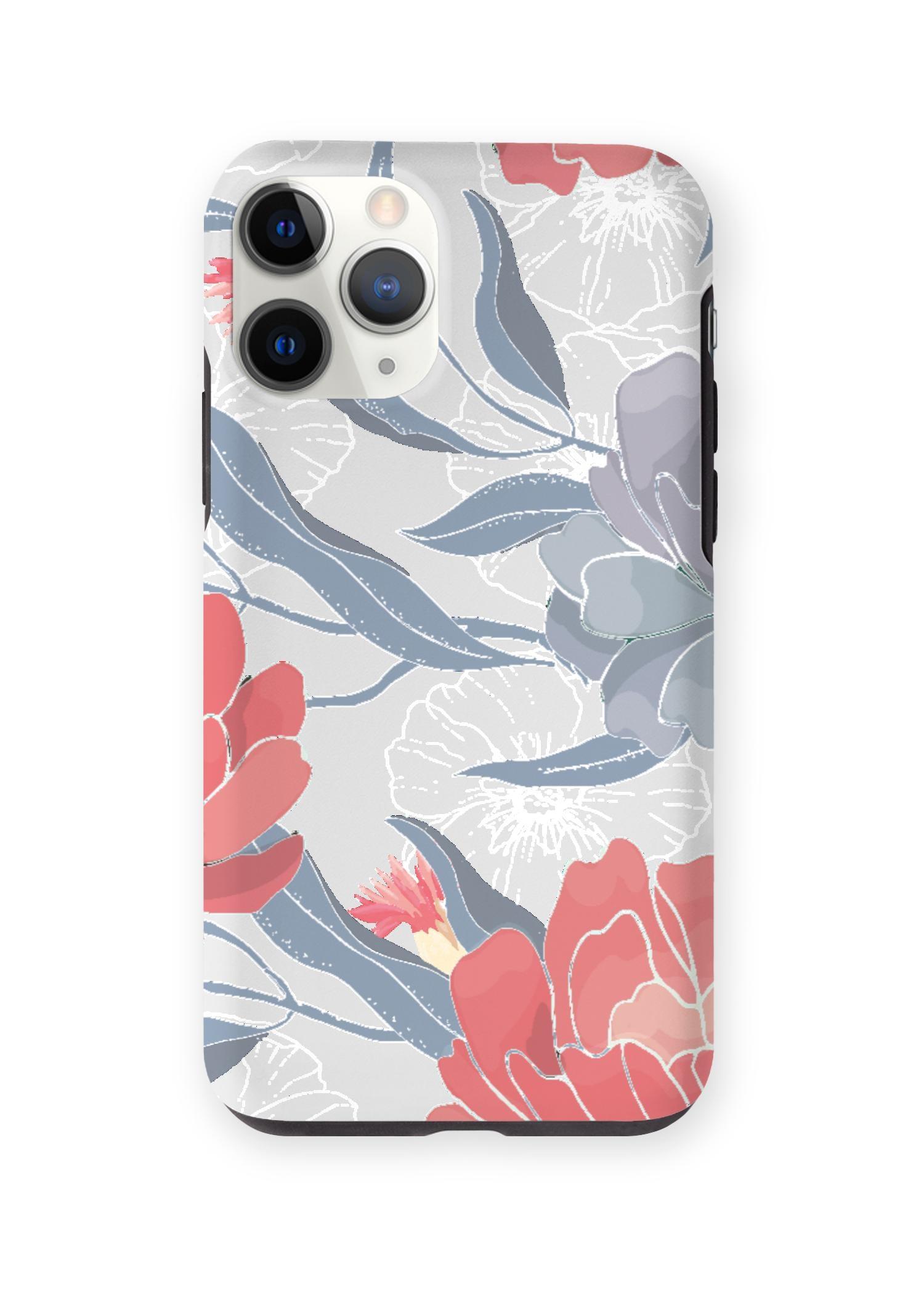 VIDA iPhone Case - Blue Red Silver Garden by VIDA Original Artist  - Size: iPhone 11 Pro / Tough