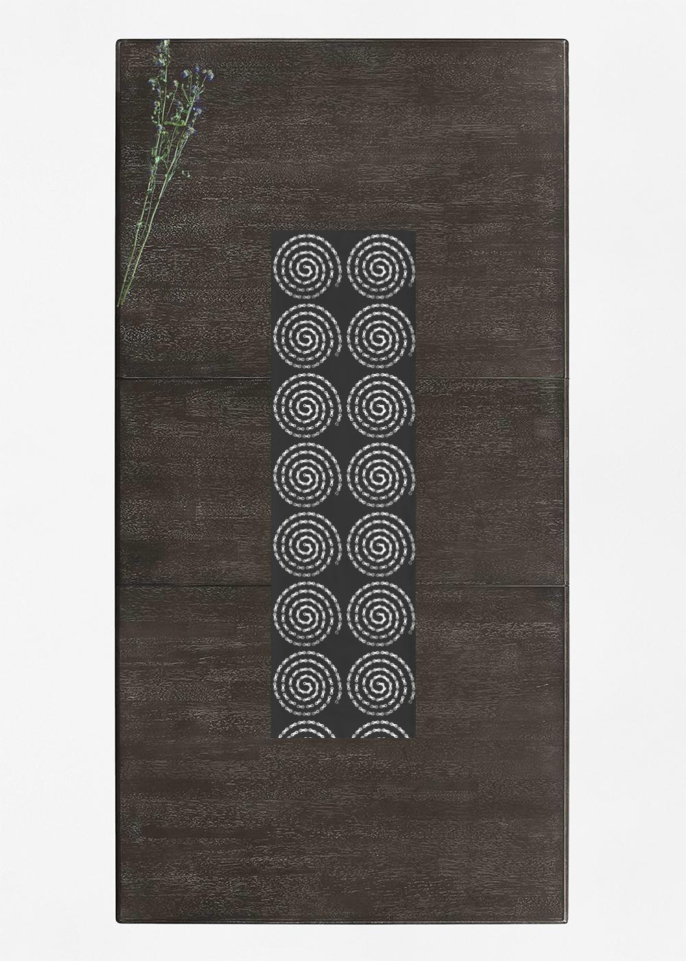 VIDA Table Runner - Bike Chain Spiral by VIDA Original Artist  - Size: Long