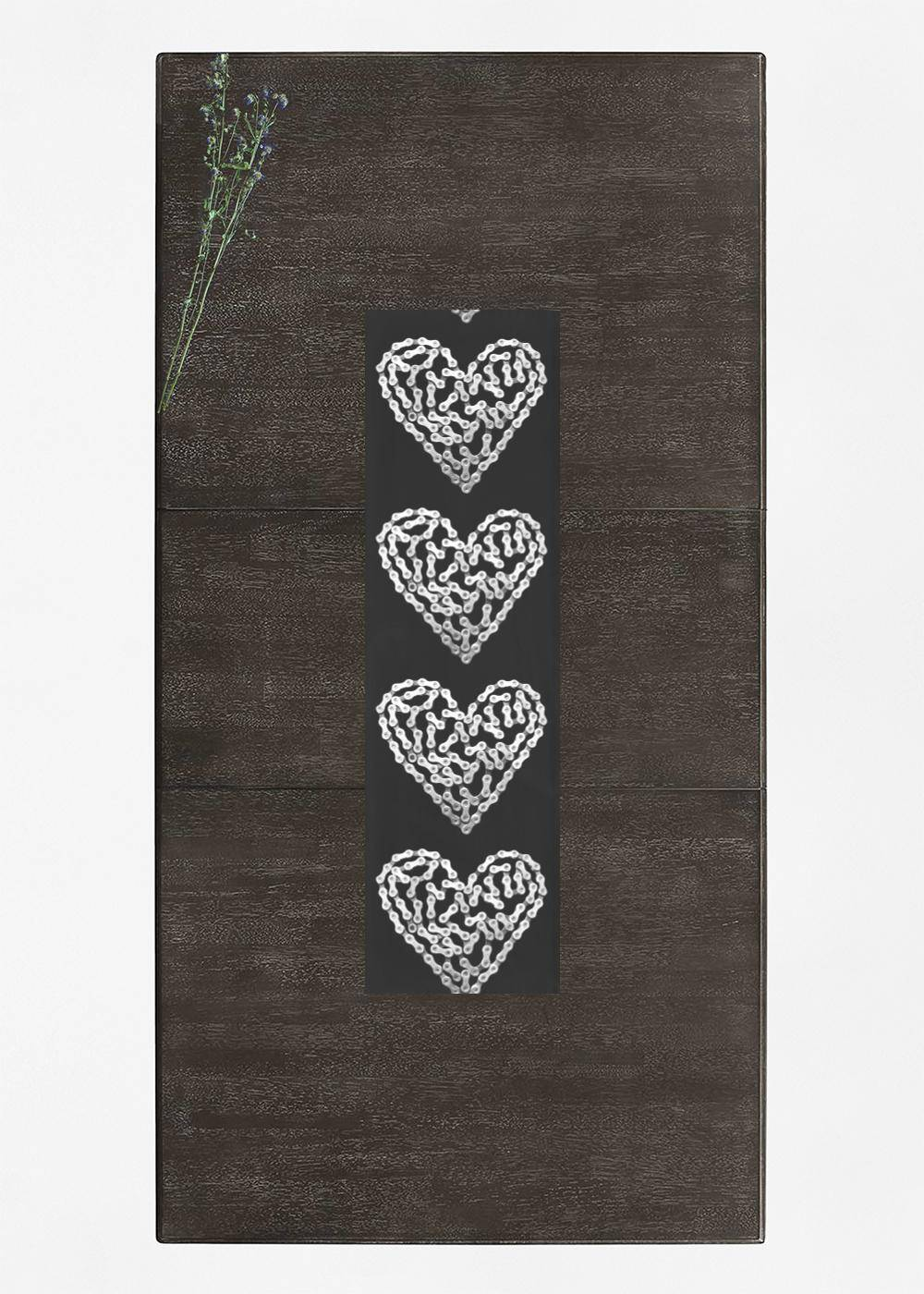 VIDA Table Runner - Bike Chain Heart by VIDA Original Artist  - Size: Short