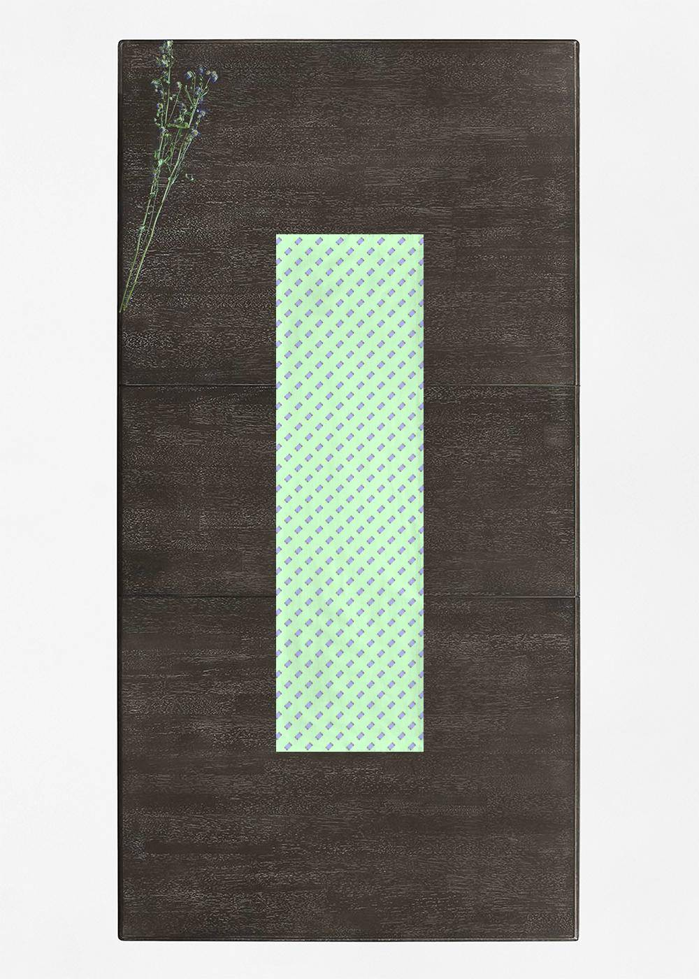 VIDA Table Runner - Mobile Phones On Green in Green by VIDA Original Artist  - Size: Long