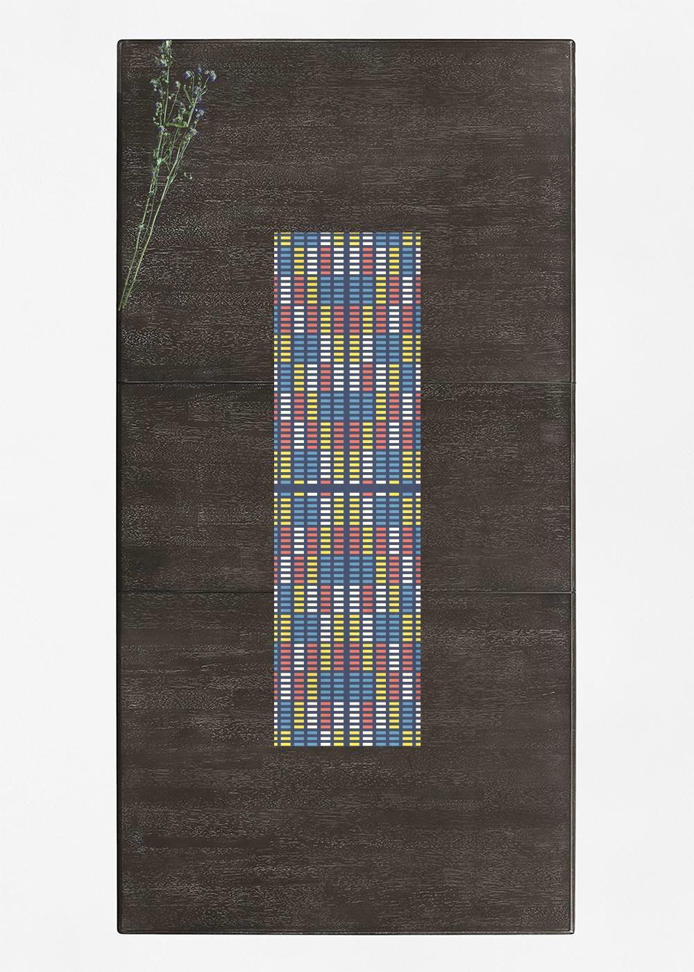 VIDA Table Runner - Retro Music Equalizer by VIDA Original Artist  - Size: Short