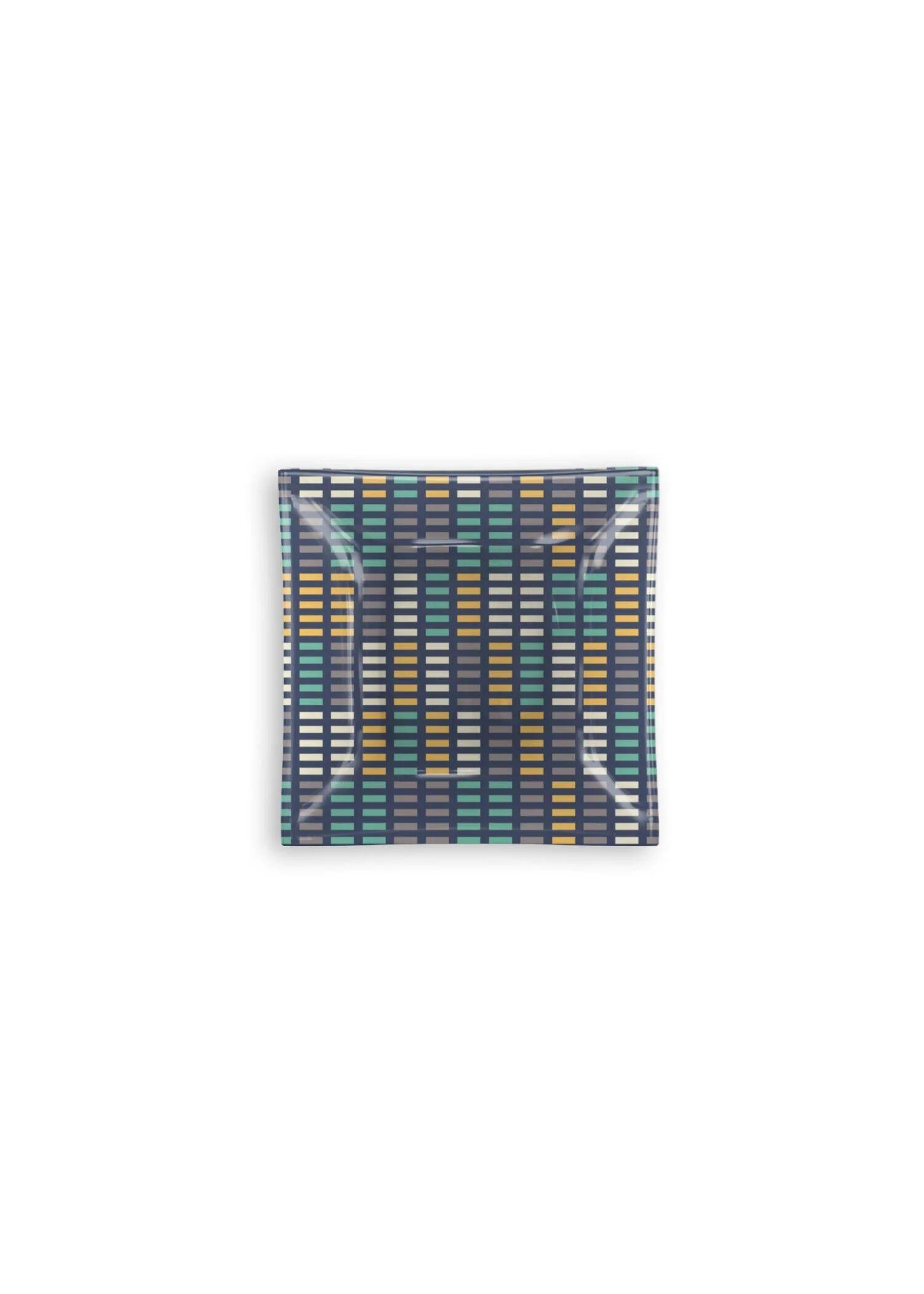 VIDA Square Glass Tray - Music Equalizer by VIDA Original Artist  - Size: Small