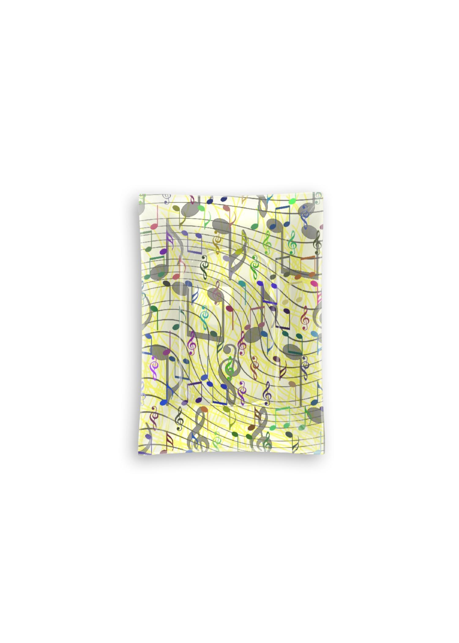 VIDA Oblong Glass Tray - Chaotic Music Notation by VIDA Original Artist  - Size: Small