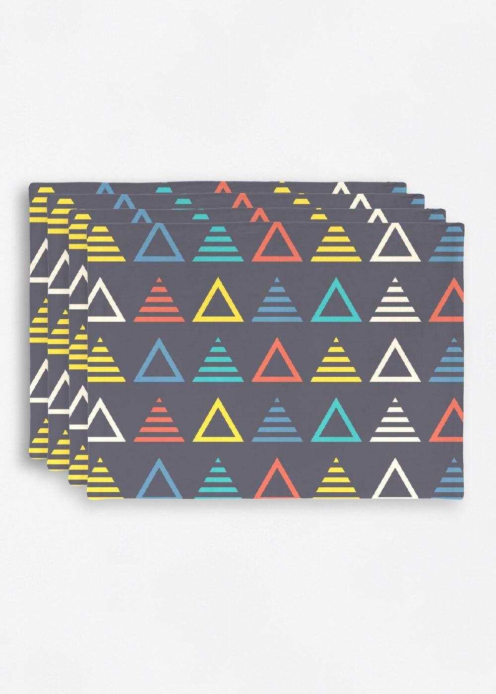 VIDA Placemat Set - Music Symmetric Triangle by VIDA Original Artist  - Size: Set of 4