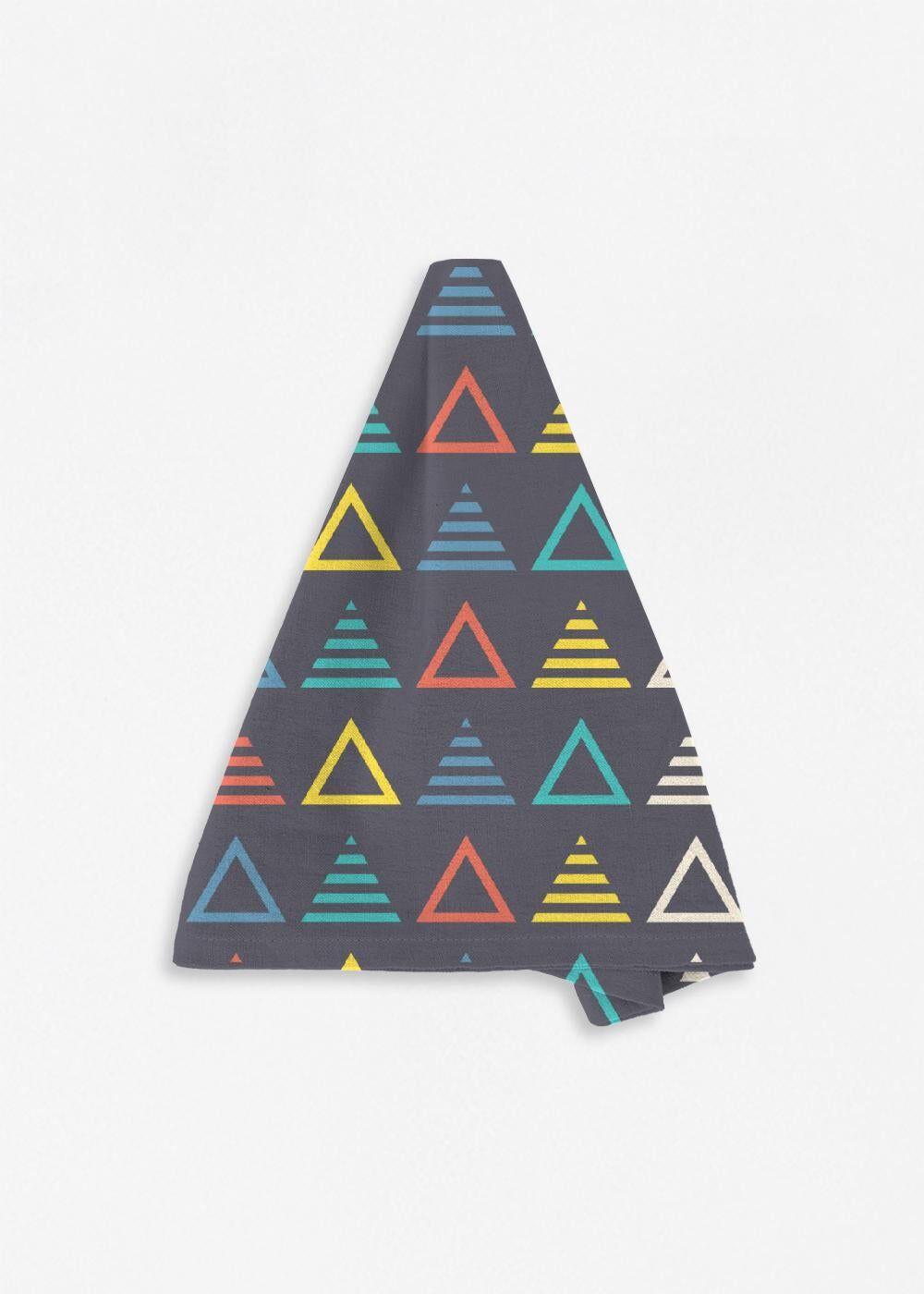 VIDA Napkin Set - Music Symmetric Triangle by VIDA Original Artist  - Size: Set of 4