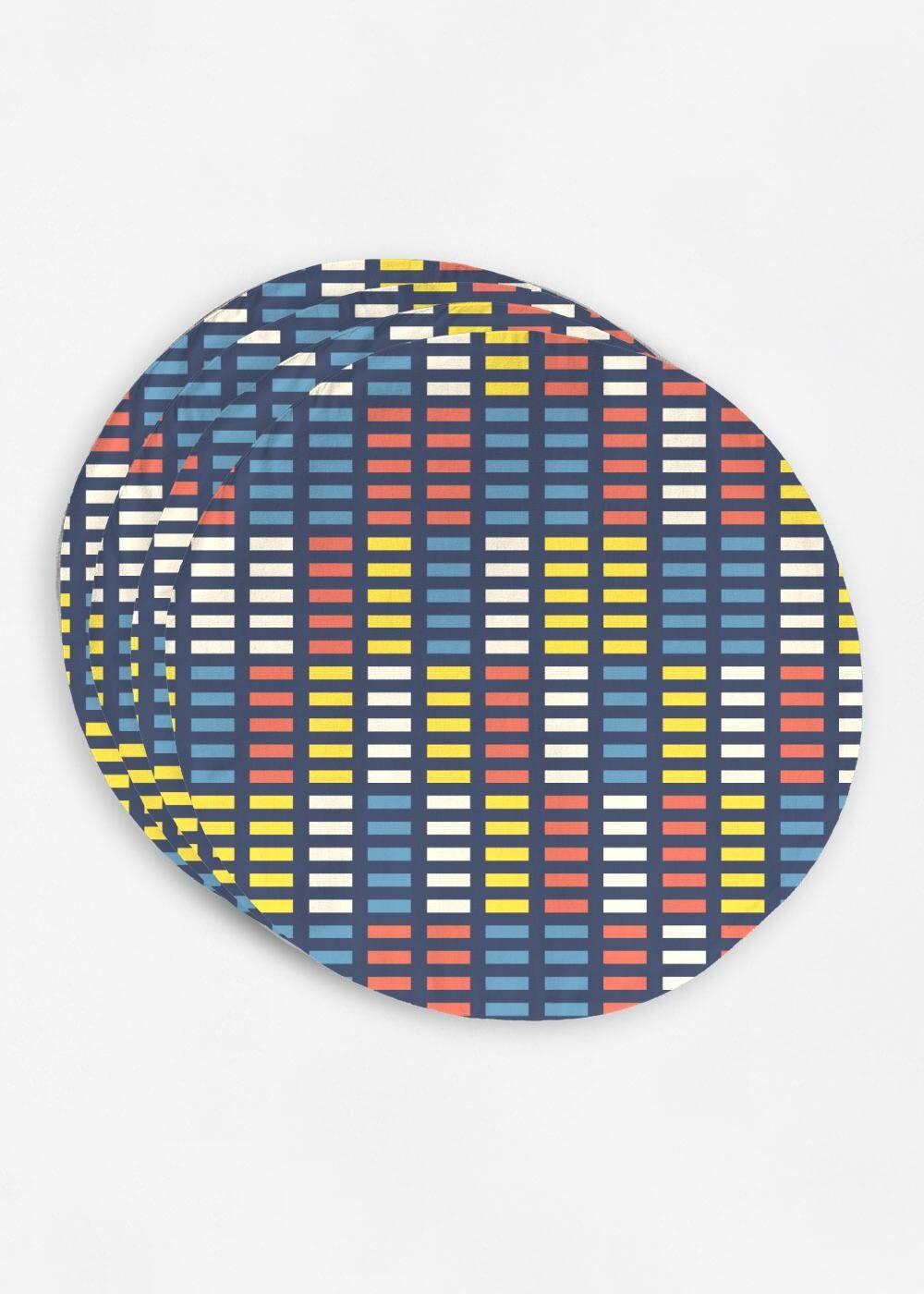 VIDA Placemat Set - Retro Music Equalizer by VIDA Original Artist  - Size: Set of 4