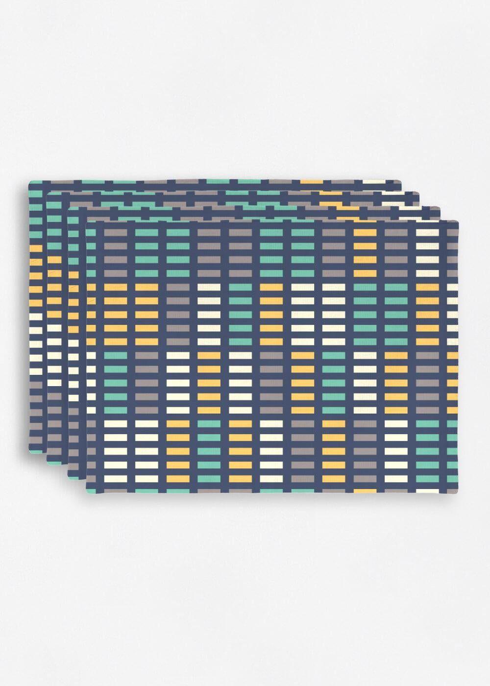 VIDA Placemat Set - Music Equalizer by VIDA Original Artist  - Size: Set of 4
