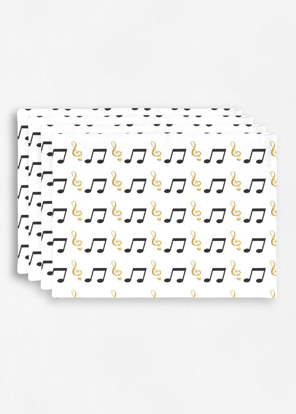 VIDA Placemat Set - Digital Music by VIDA Original Artist  - Size: Set of 4