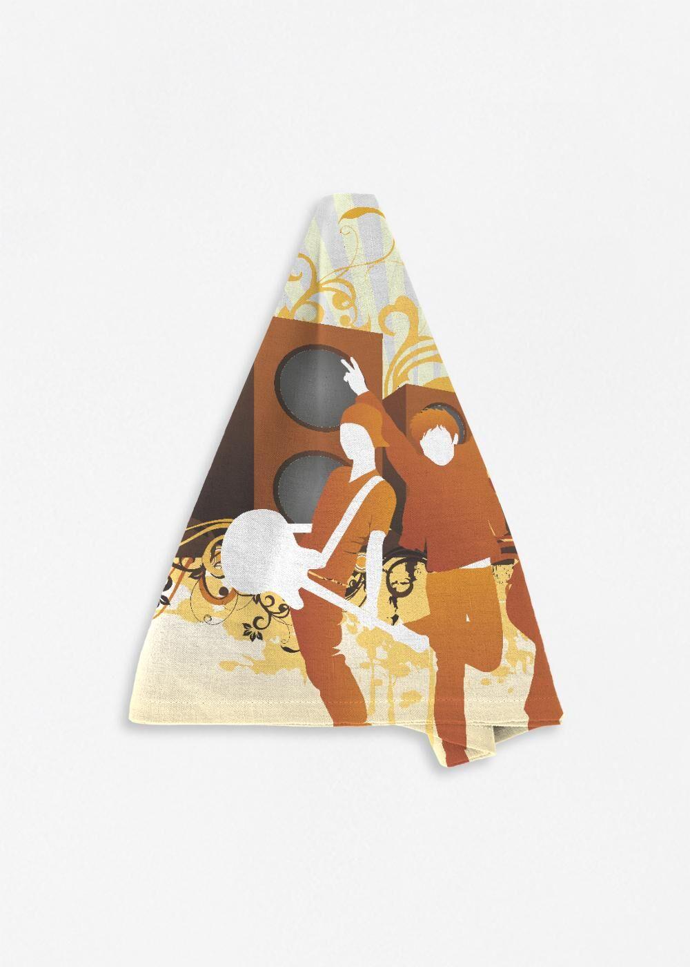 VIDA Napkin Set - Music Background by VIDA Original Artist  - Size: Set of 4