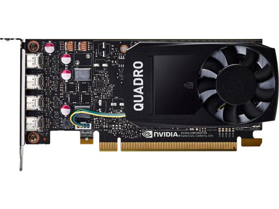 HP NVIDIA Quadro P1000 4GB Graphics Card 1ME01AT HP -