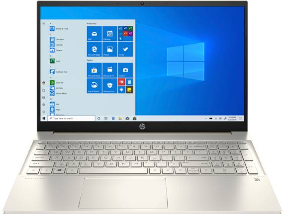 "HP Pavilion Laptop - 15z-eh000 Touch Screen optional AMD Ryzen 7 AMD Radeon Graphics 8 GB DDR4 15.6"" Display Windows 10 Home 64 9YV59AV_100284 - Warm Gold"