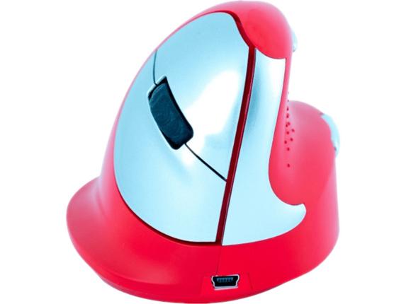 R-Go Tools Sport Bluetooth Vertical Ergo Mouse, Medium, Right Hand, Red RGOHEREDR -